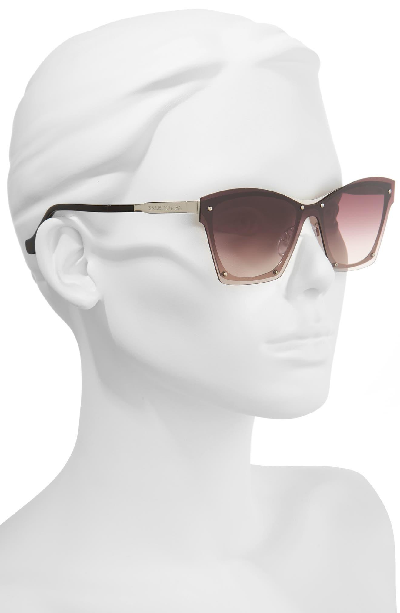 55mm Frameless Sunglasses,                             Alternate thumbnail 5, color,