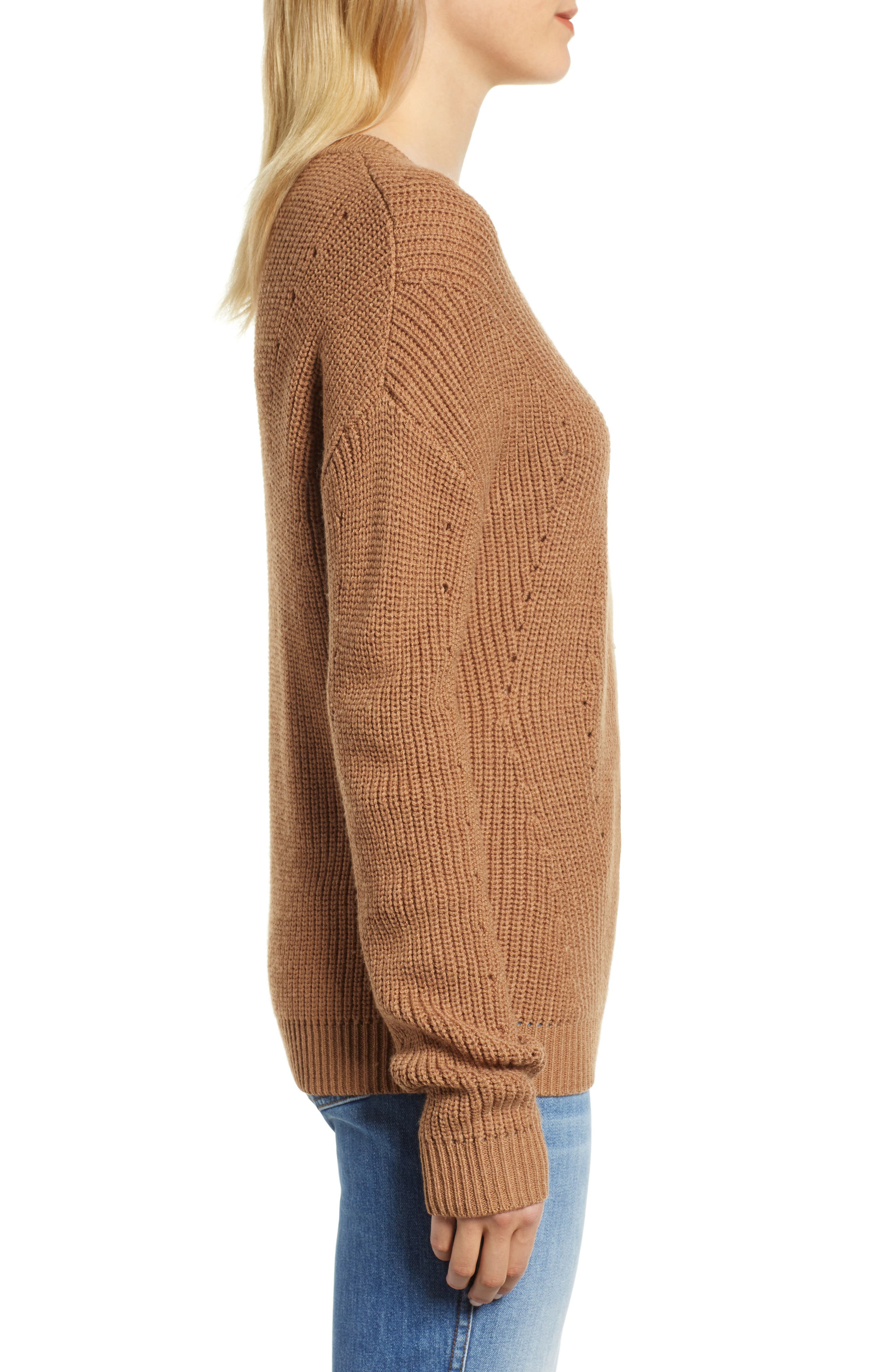 Crewneck Sweater,                             Alternate thumbnail 3, color,                             BRONZE
