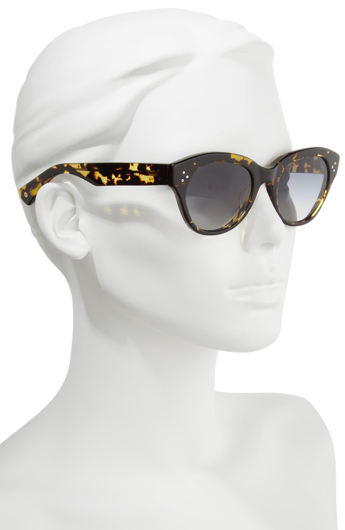 Bobbi 53mm Cat Eye Polarized Sunglasses,                             Alternate thumbnail 2, color,                             001