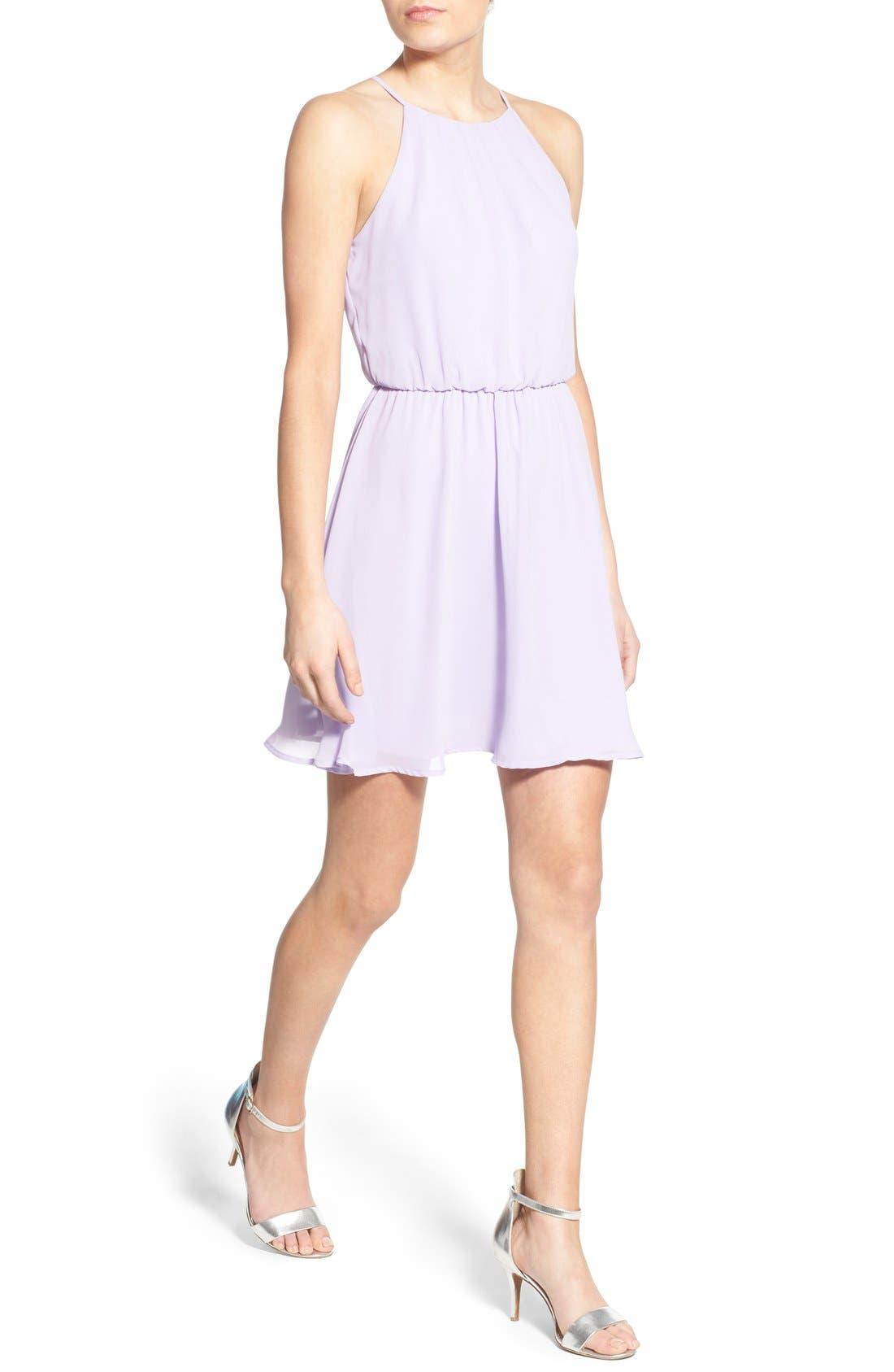Blouson Chiffon Skater Dress,                             Alternate thumbnail 186, color,