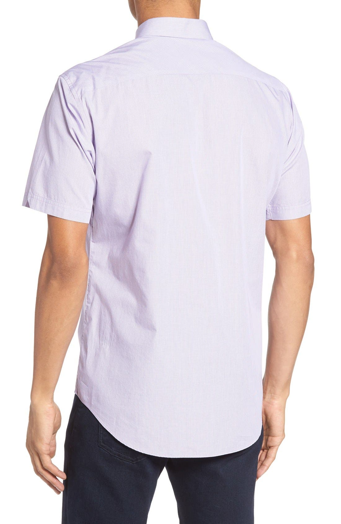 ZACHARY PRELL,                             Friswold Slim Fit Plaid Sport Shirt,                             Alternate thumbnail 6, color,                             500