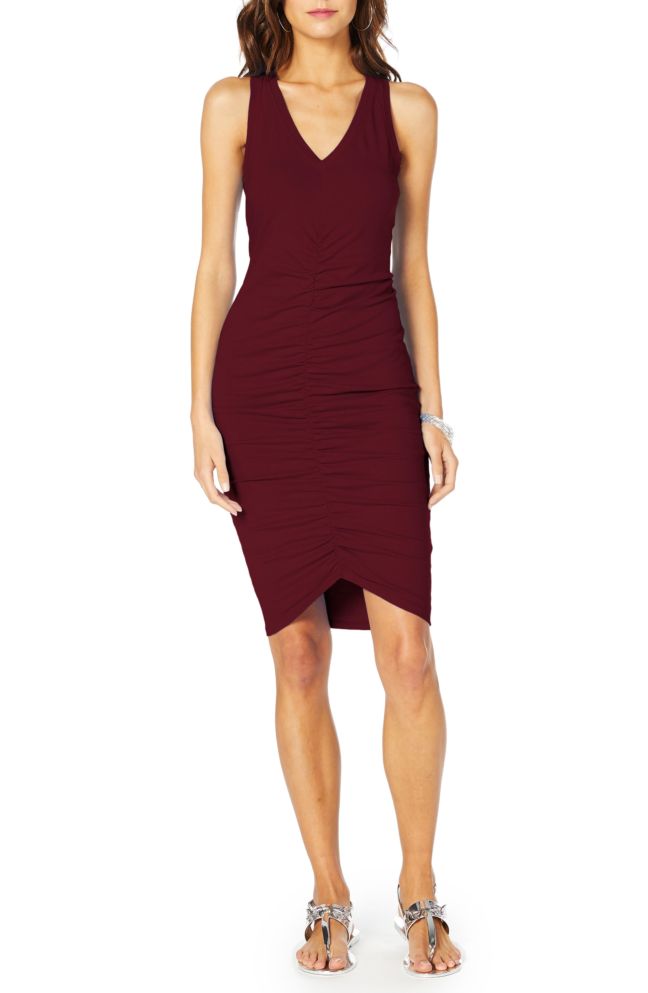 Michael Stars Ruched Tank Dress, Red