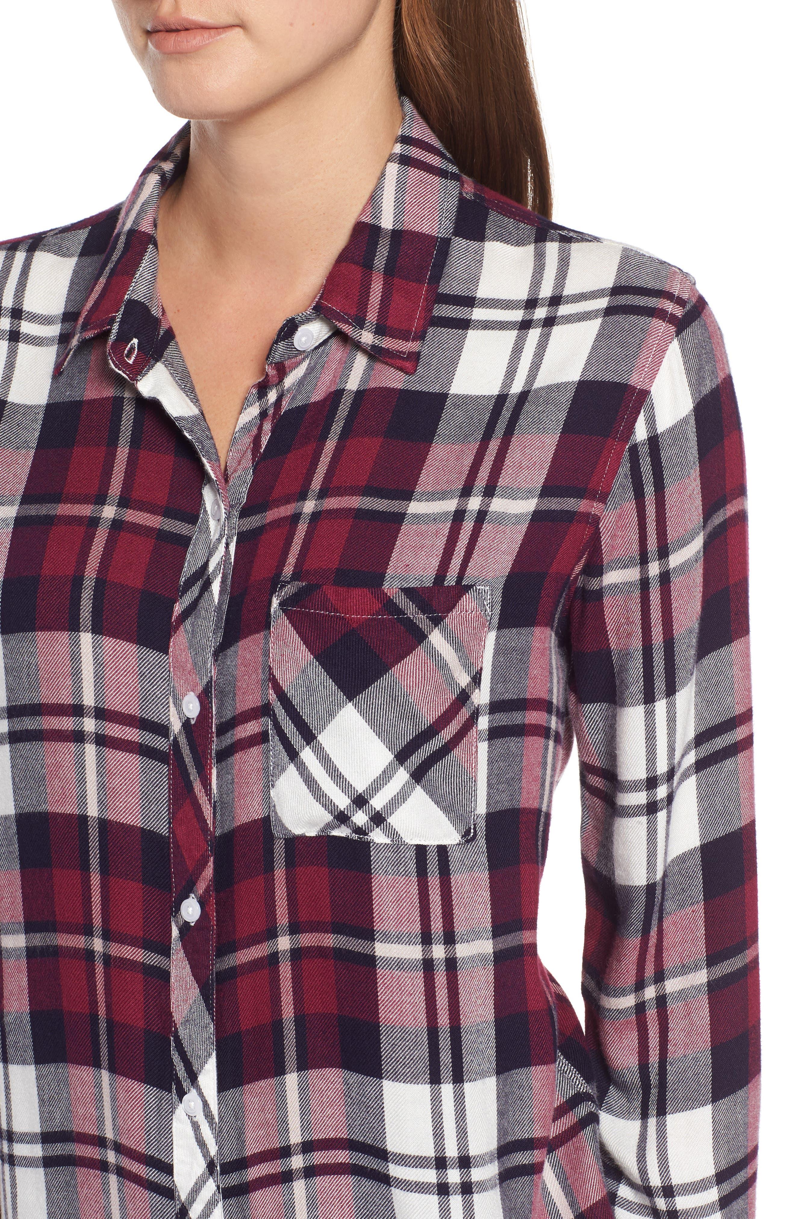 Hunter Plaid Shirt,                             Alternate thumbnail 496, color,