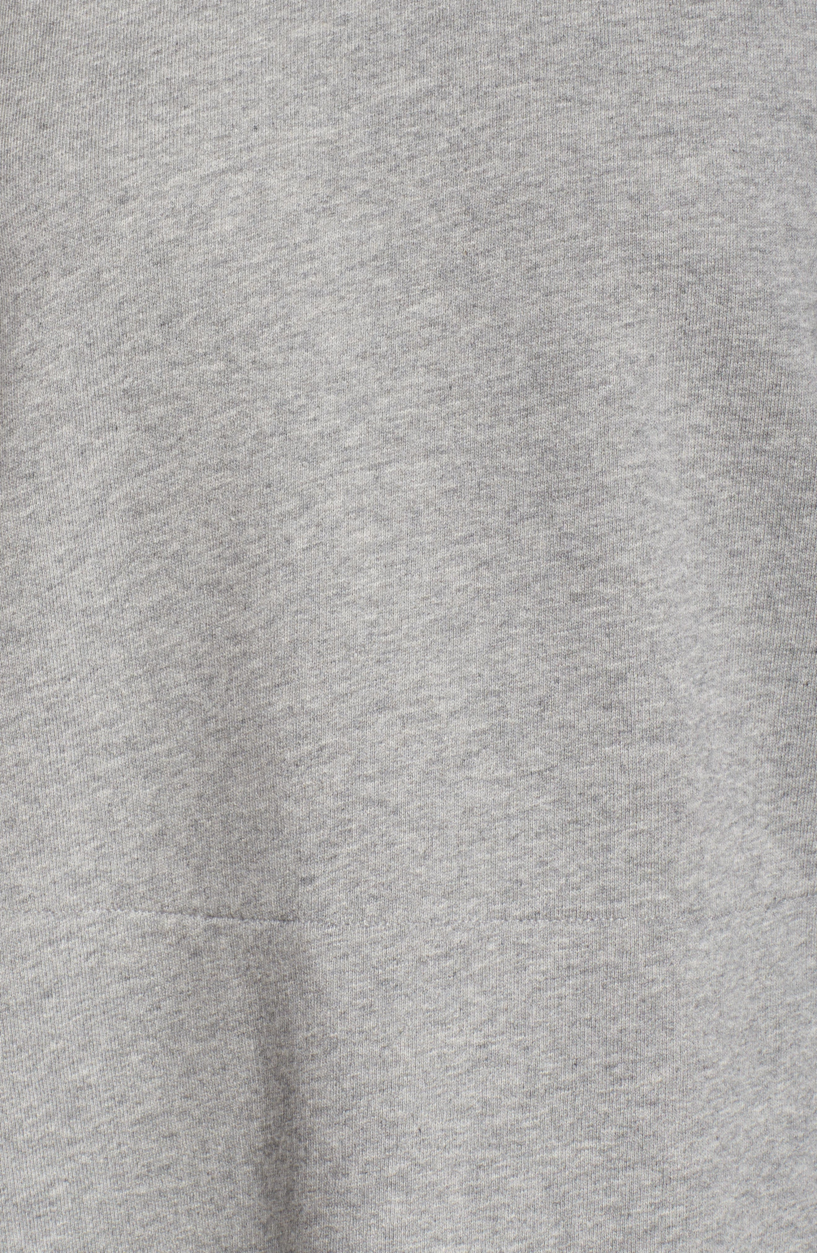 ruffle hoodie sweatshirt,                             Alternate thumbnail 6, color,                             088