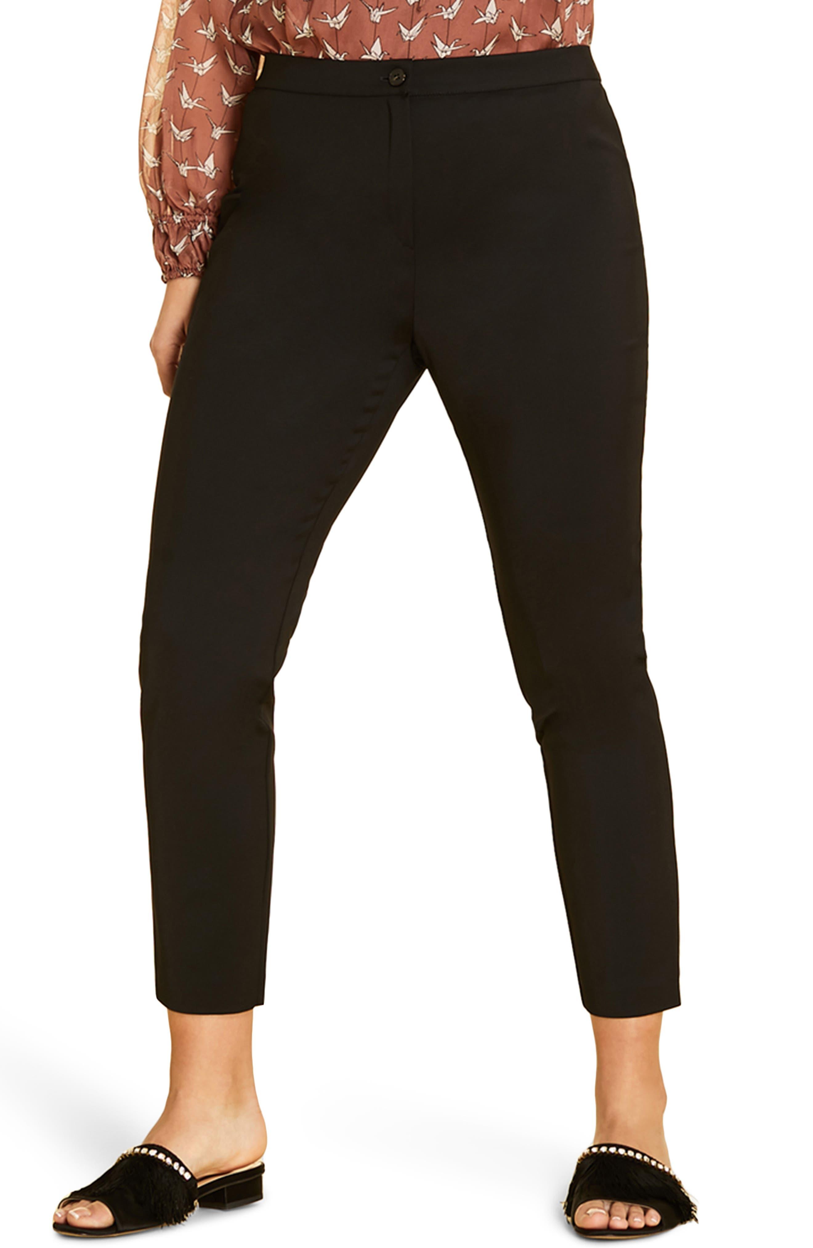 plus size women's marina rinaldi raduno ankle pants