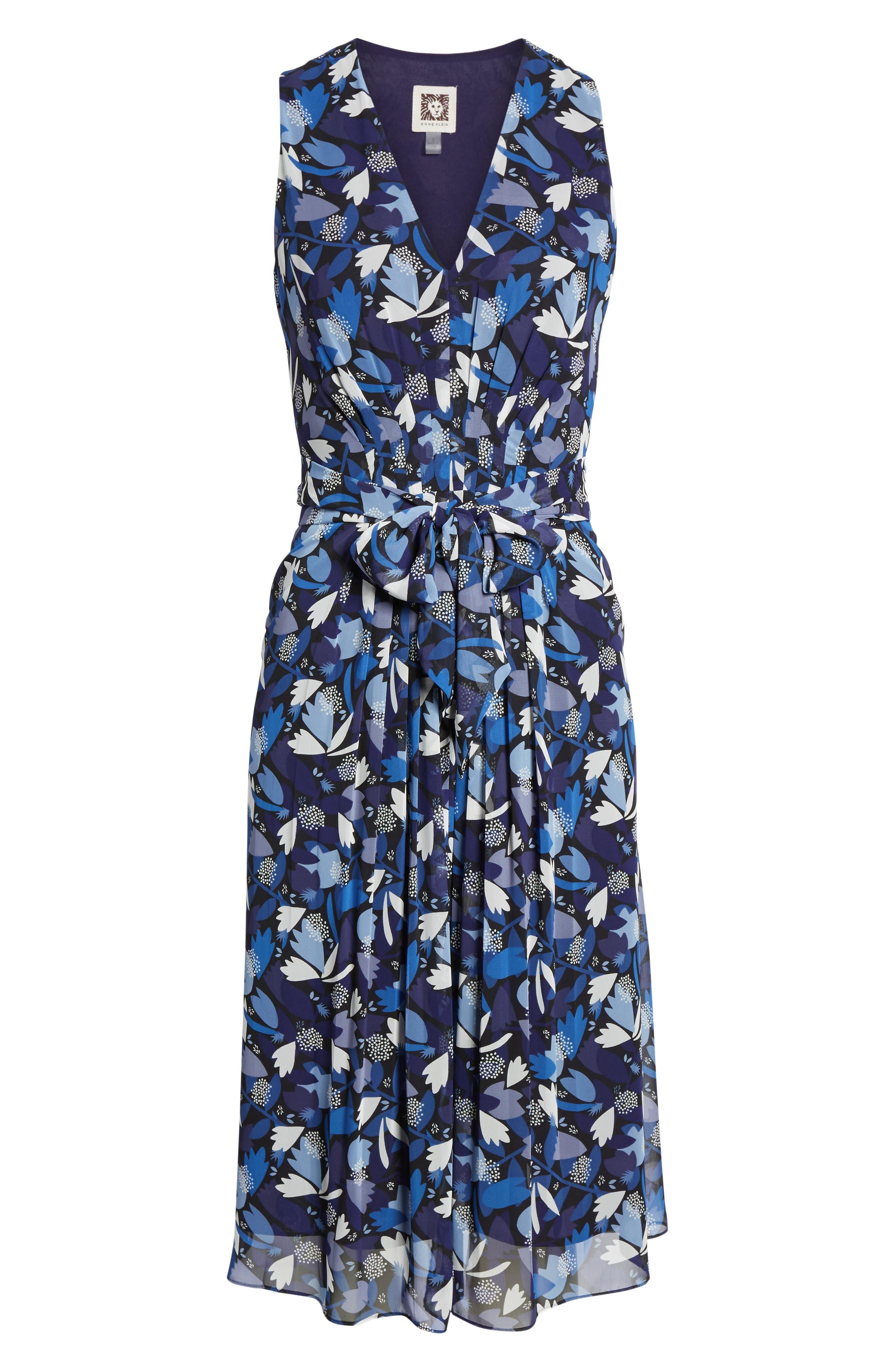 Amalfi Print Chiffon Dress,                             Alternate thumbnail 6, color,                             410