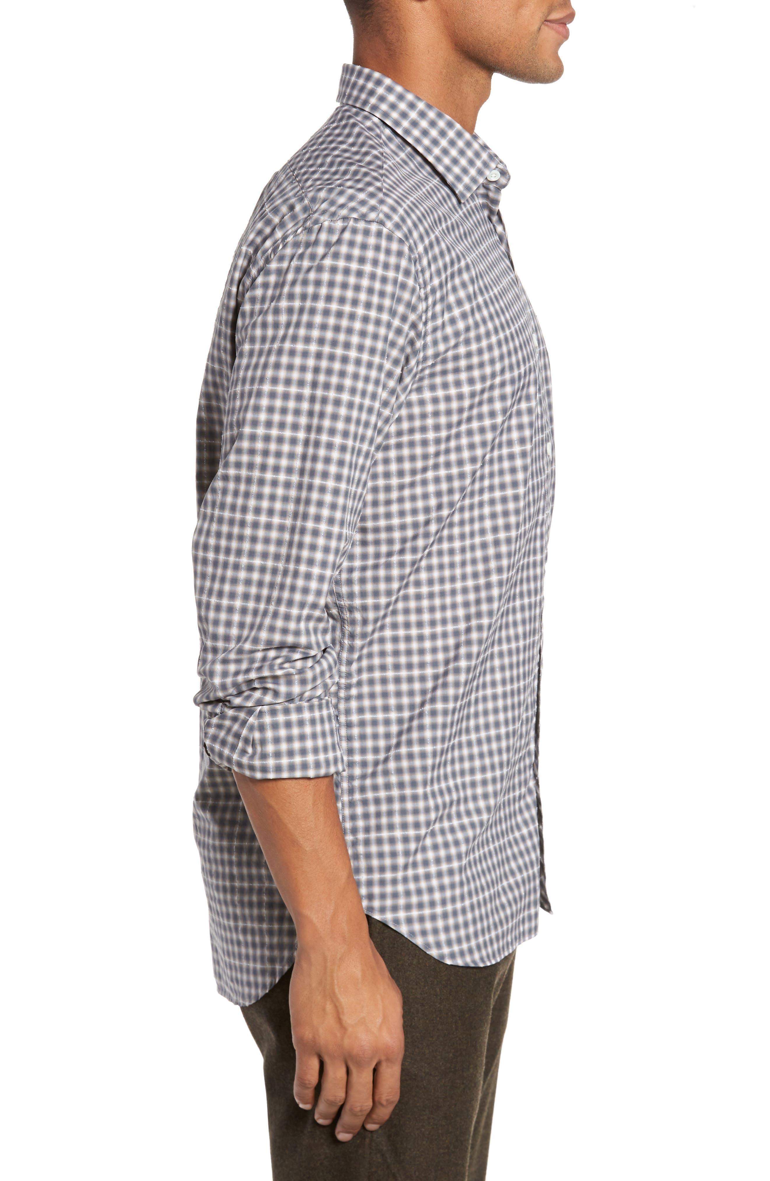 John T Print Slim Fit Sport Shirt,                             Alternate thumbnail 3, color,                             090