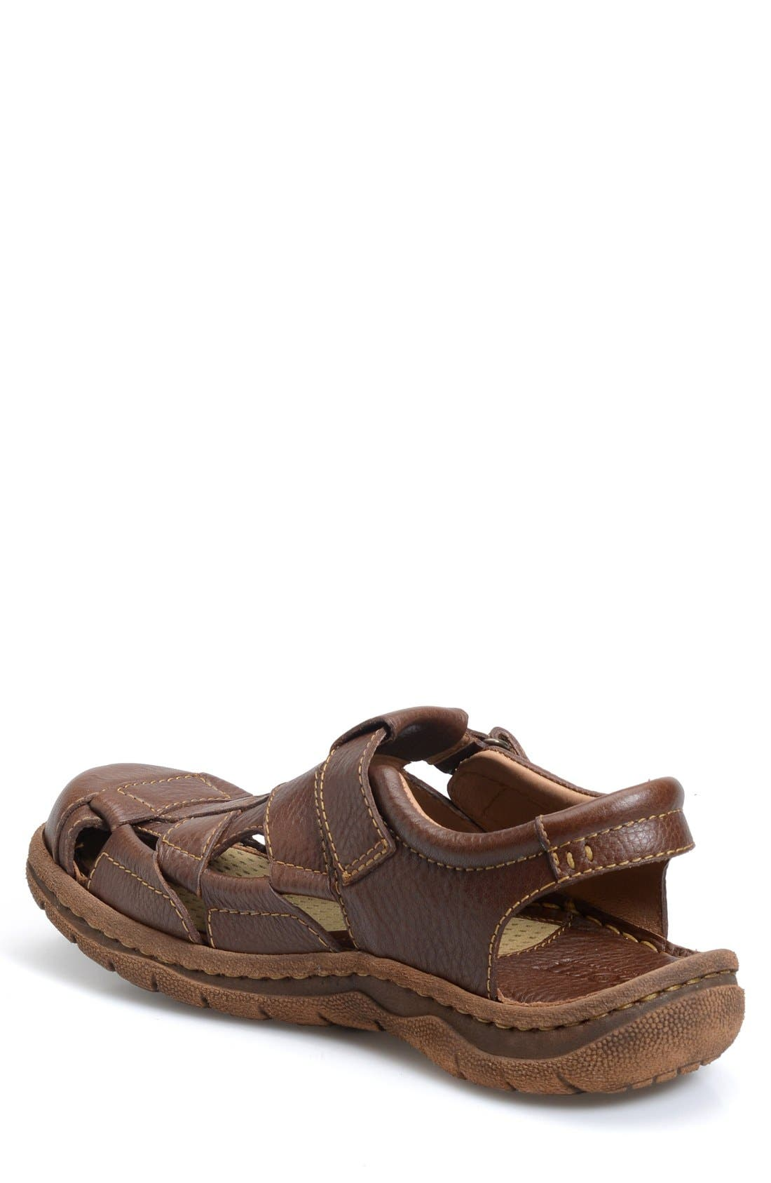 'Cabot II' Sandal,                             Alternate thumbnail 2, color,                             BROWN LEATHER