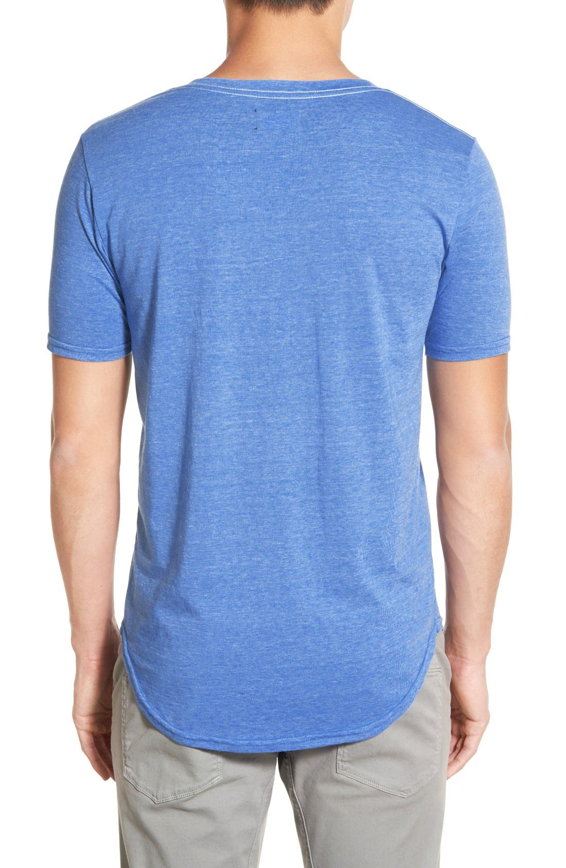 Scallop Triblend V-Neck T-Shirt,                             Alternate thumbnail 54, color,