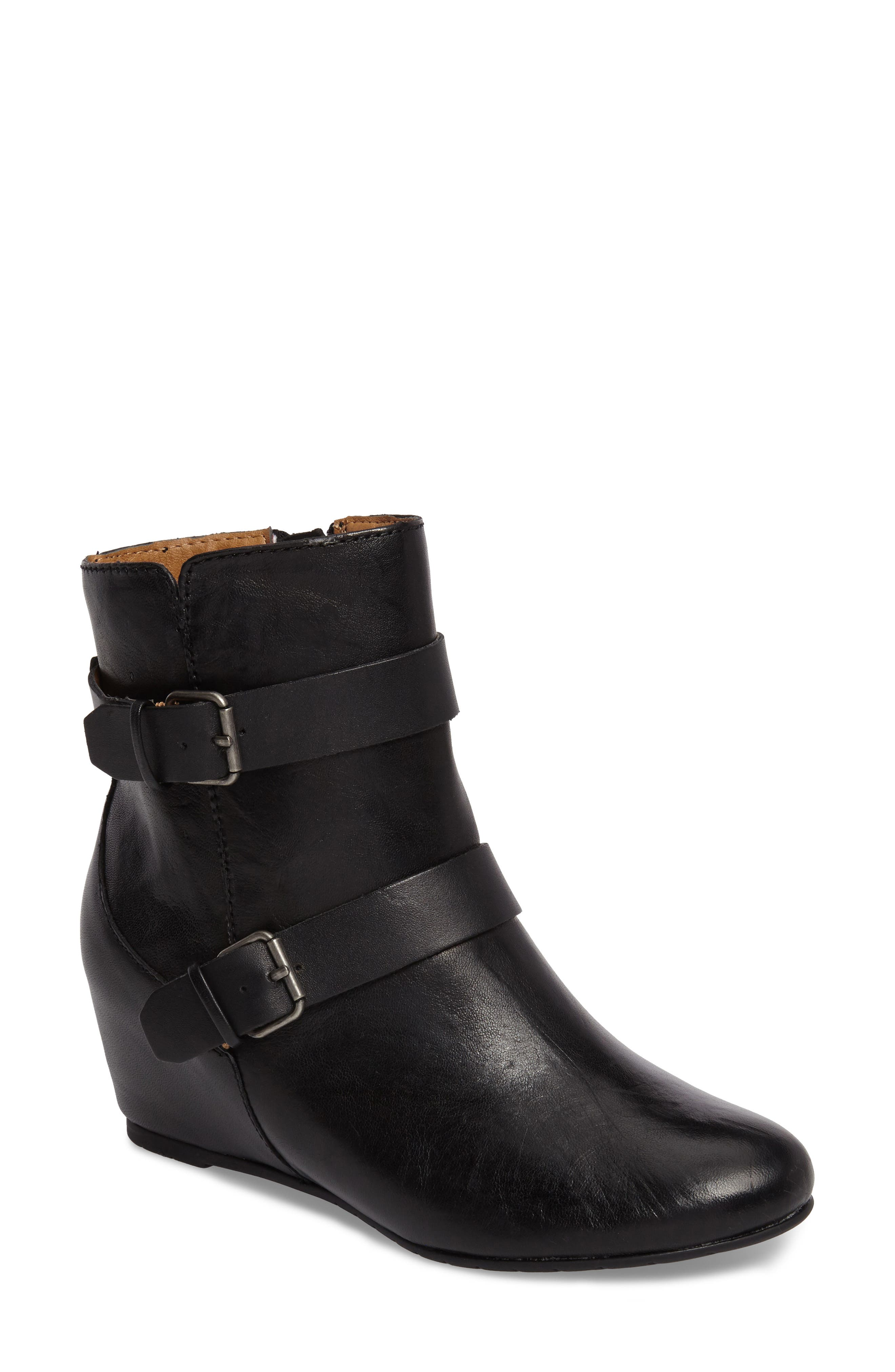 Ramika Wedge Bootie,                         Main,                         color, 001