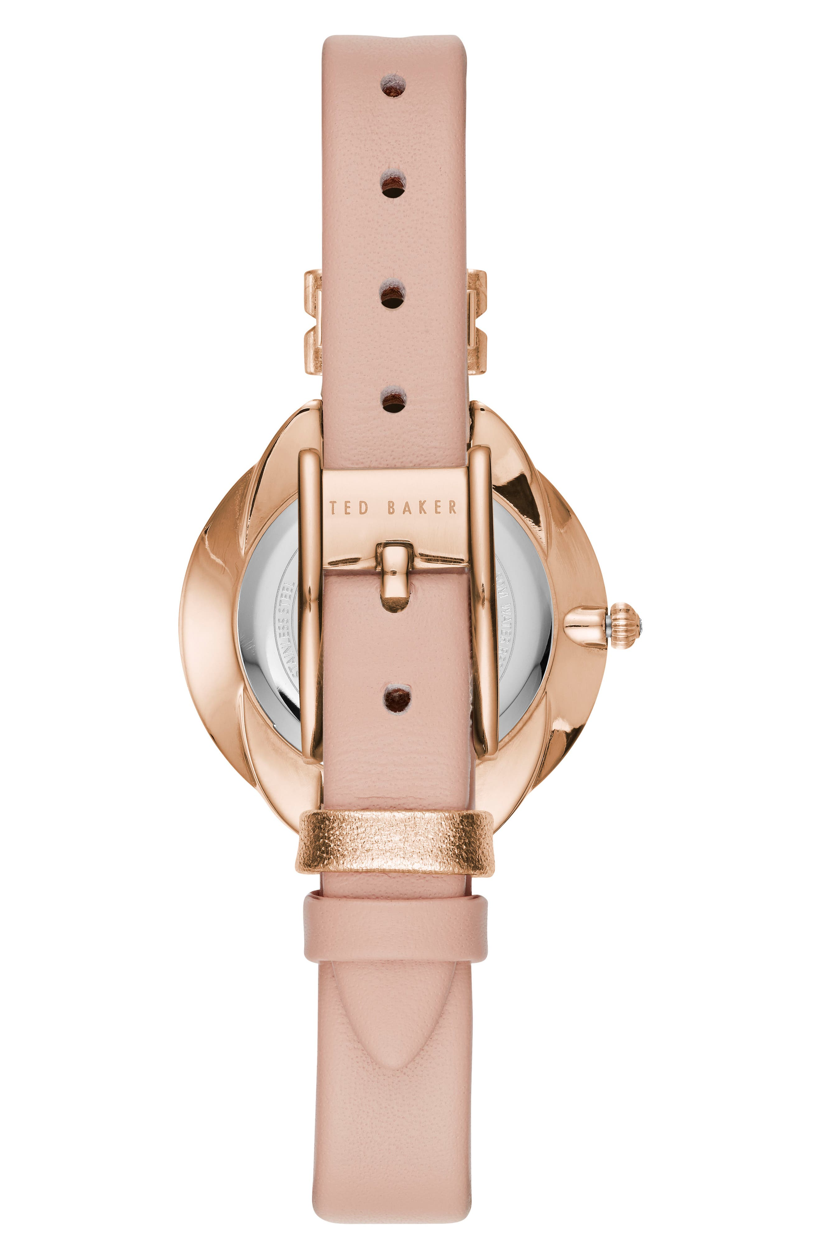 Elana Leather Strap Watch, 30mm,                             Alternate thumbnail 8, color,