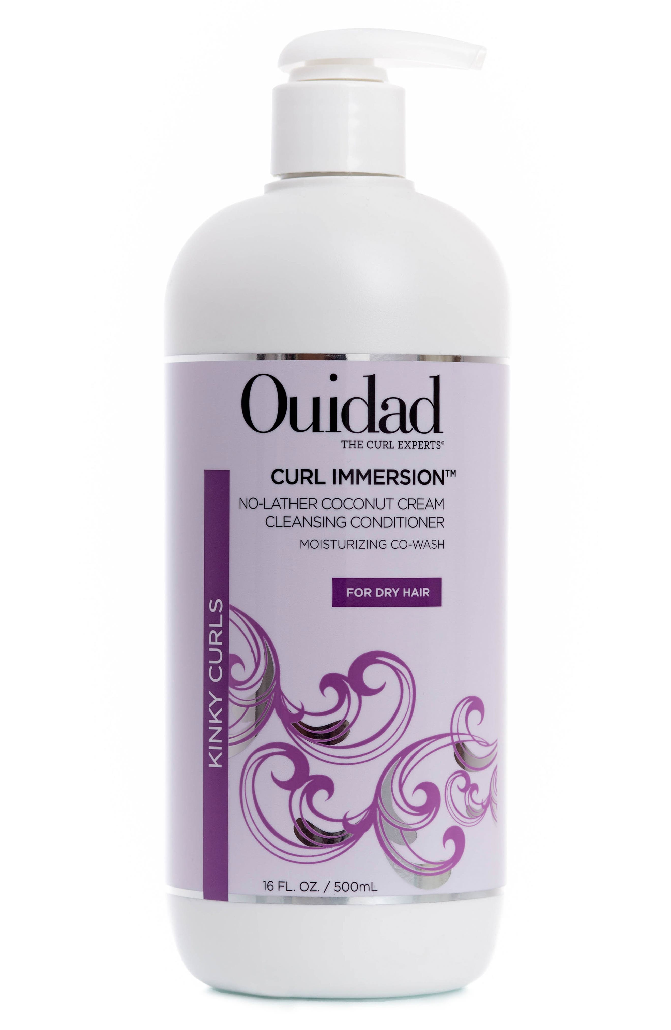 OUIDAD,                             Curl Immersion<sup>™</sup> No-Lather Coconut Cream Cleansing Conditioner,                             Main thumbnail 1, color,                             000