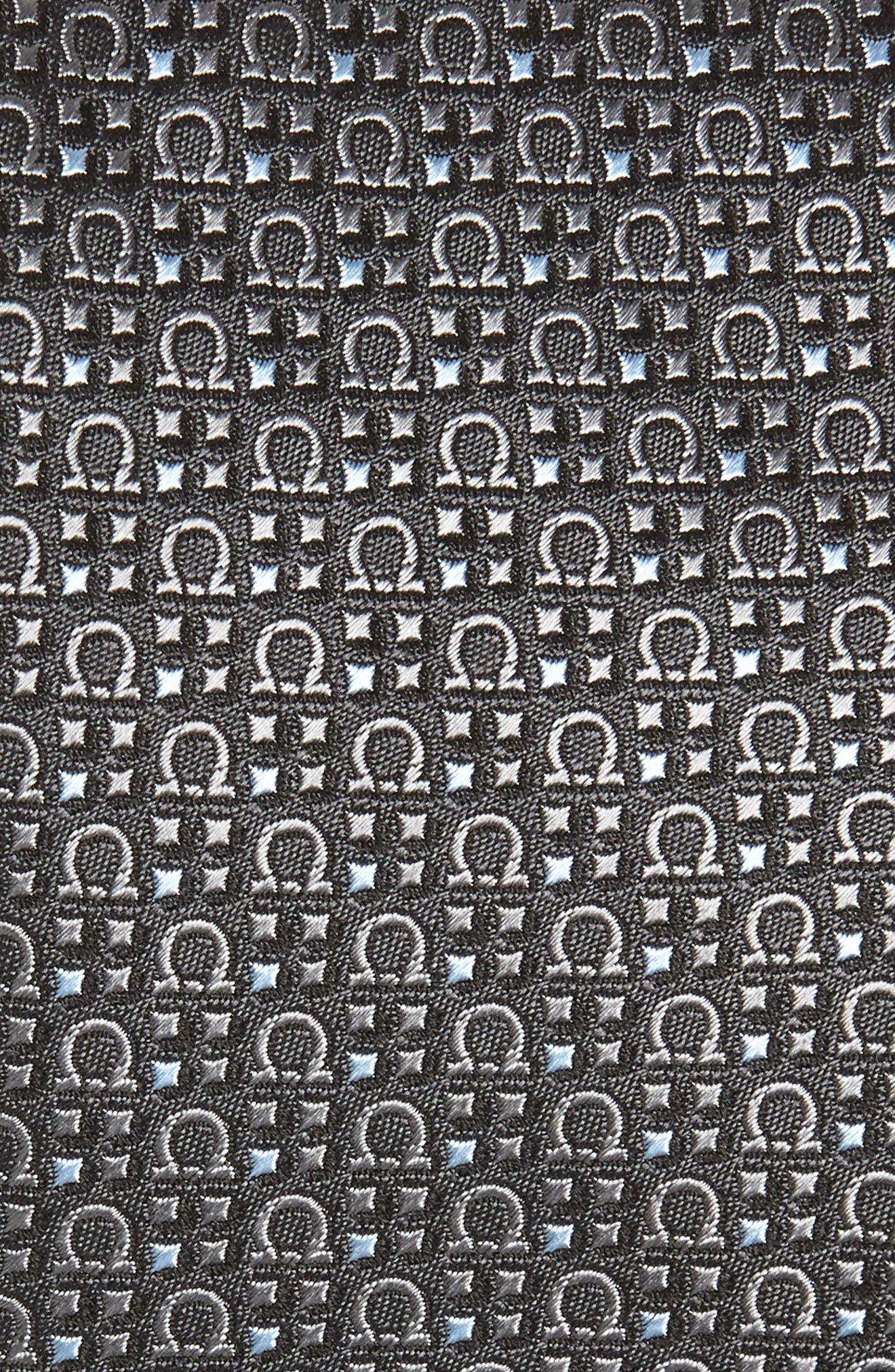 Geometric Print Silk Tie,                             Alternate thumbnail 2, color,                             025