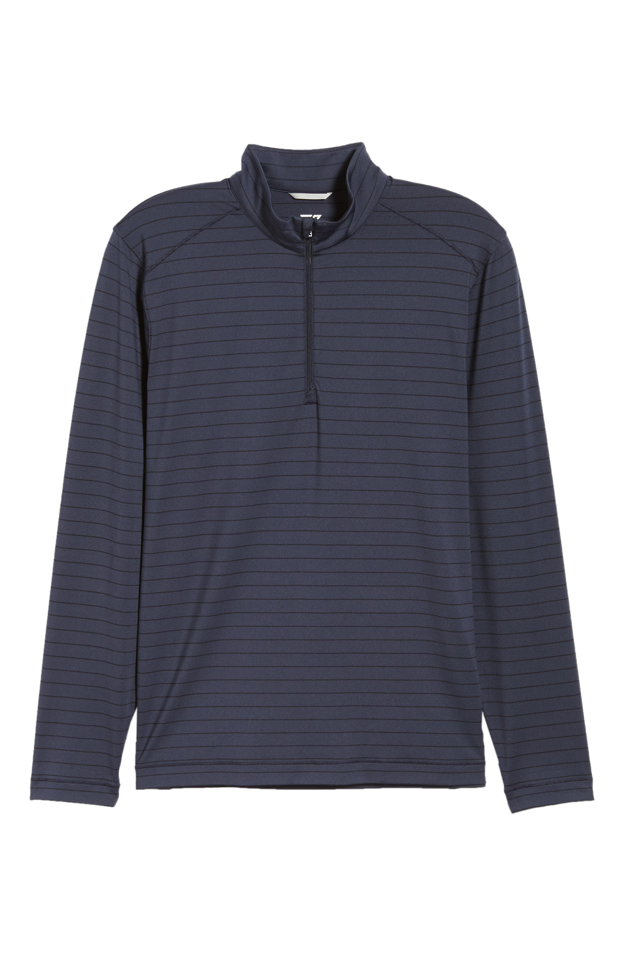 Holman Stripe Half Zip Pullover,                             Alternate thumbnail 6, color,                             LIBERTY NAVY HEATHER