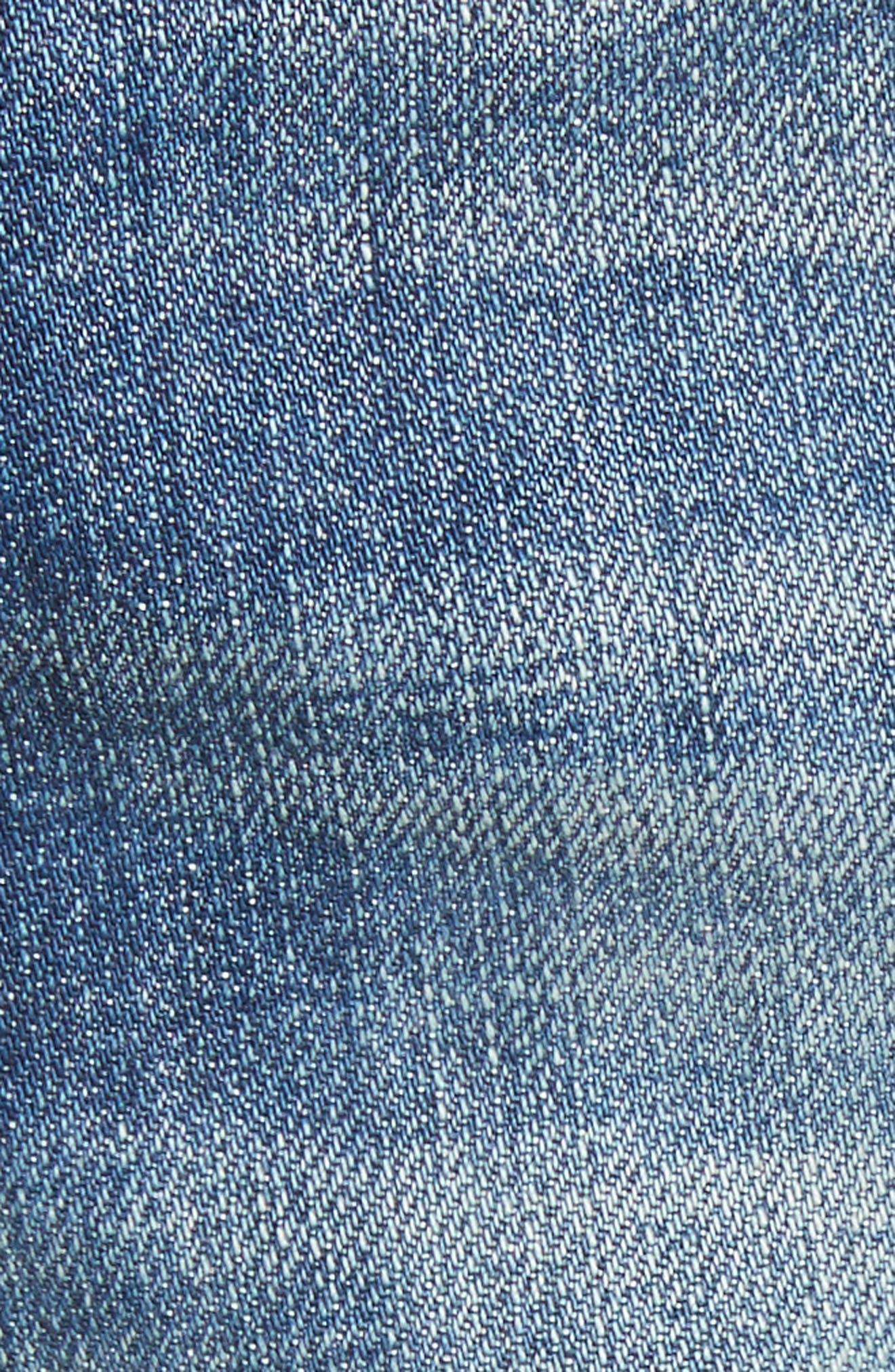 Margaux High Waist Denim Shorts,                             Alternate thumbnail 5, color,                             420