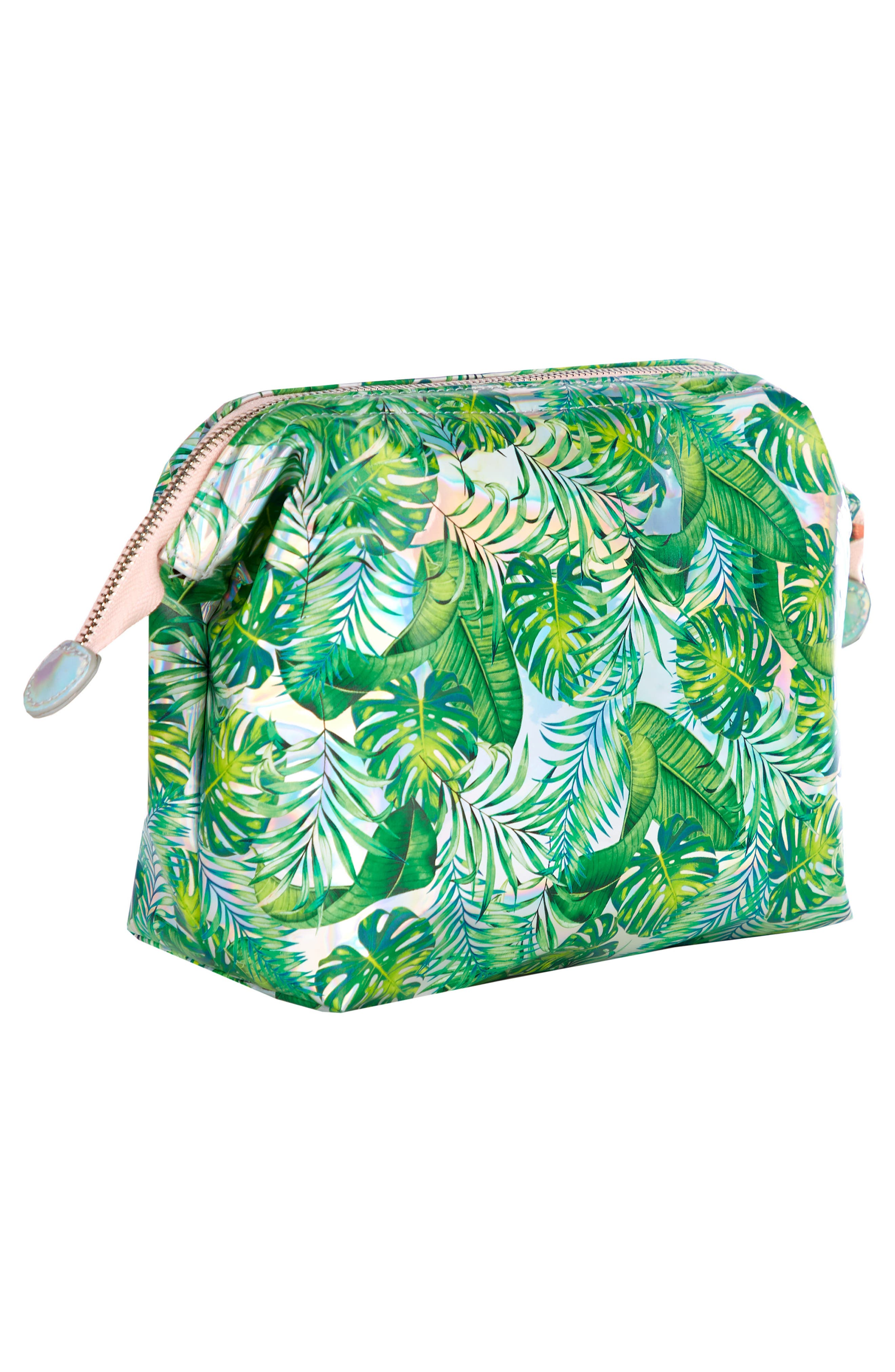 Skinny Dip Dominica Large Cosmetics Case,                             Alternate thumbnail 2, color,                             000