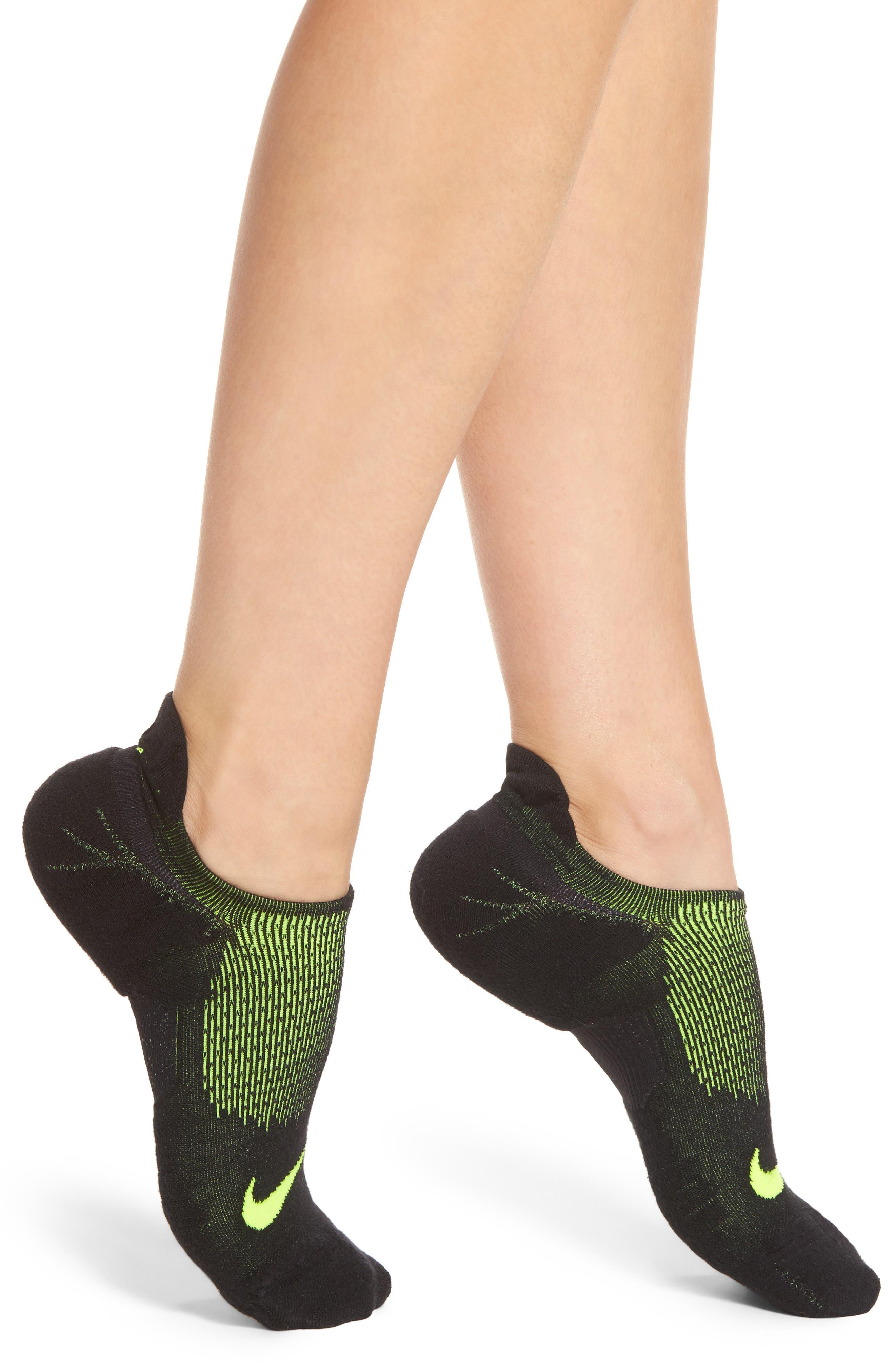 Elite Cushioned No-Show Tab Running Socks,                             Main thumbnail 1, color,
