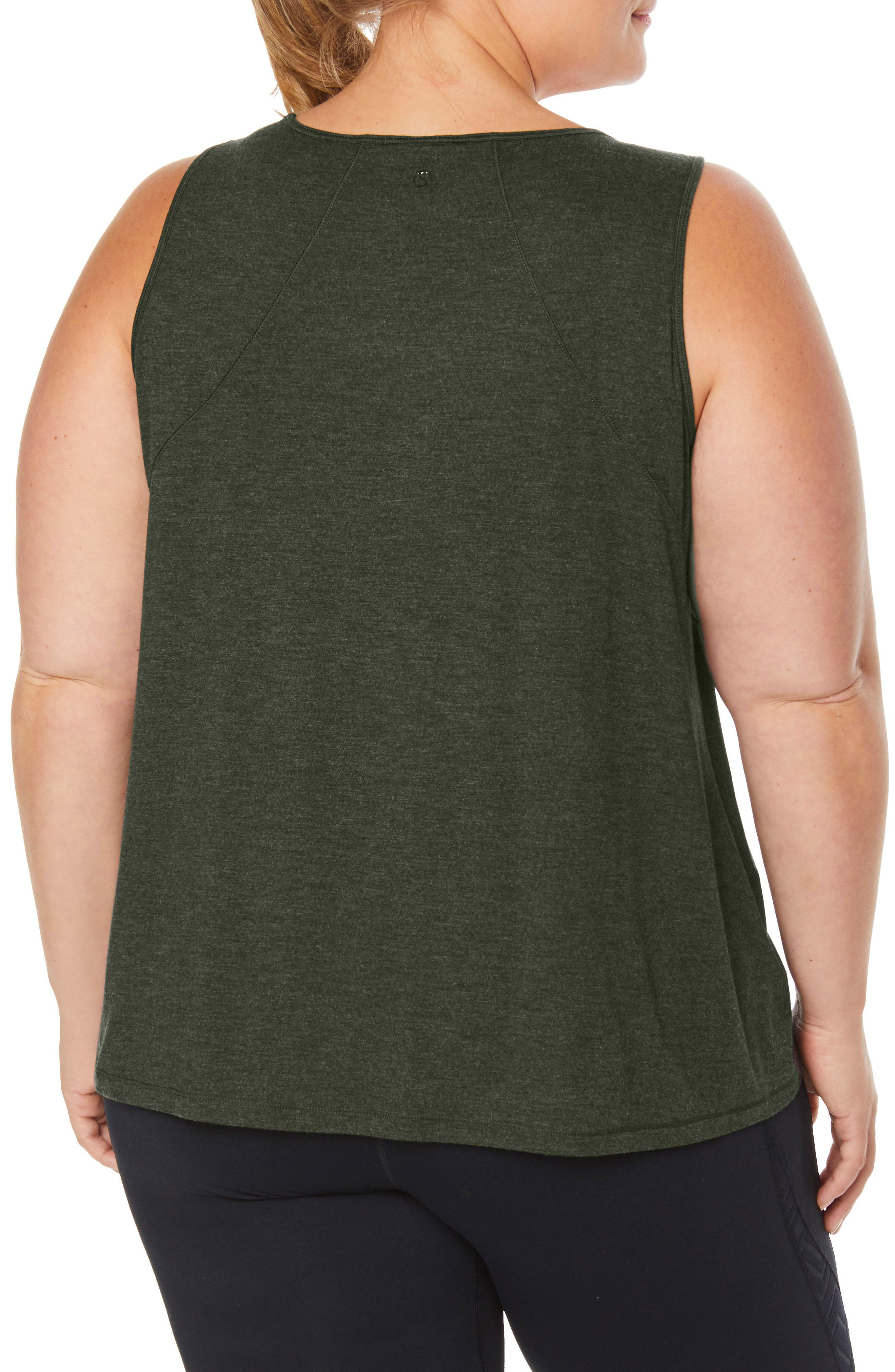 Shape Motion Tank,                             Alternate thumbnail 2, color,                             FOREST NIGHT HEATHER