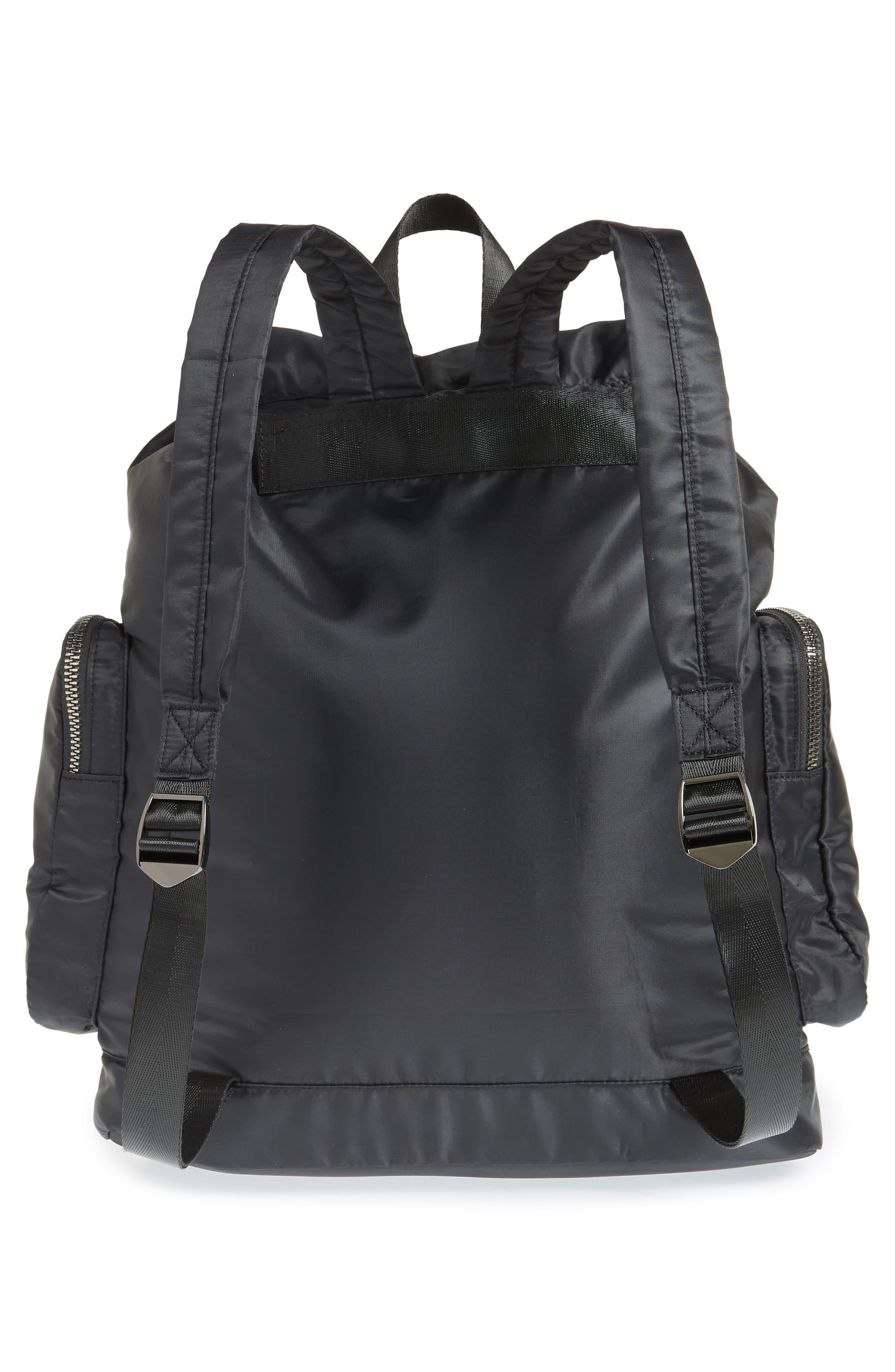 Oversized Utility Backpack,                             Alternate thumbnail 3, color,                             BLACK