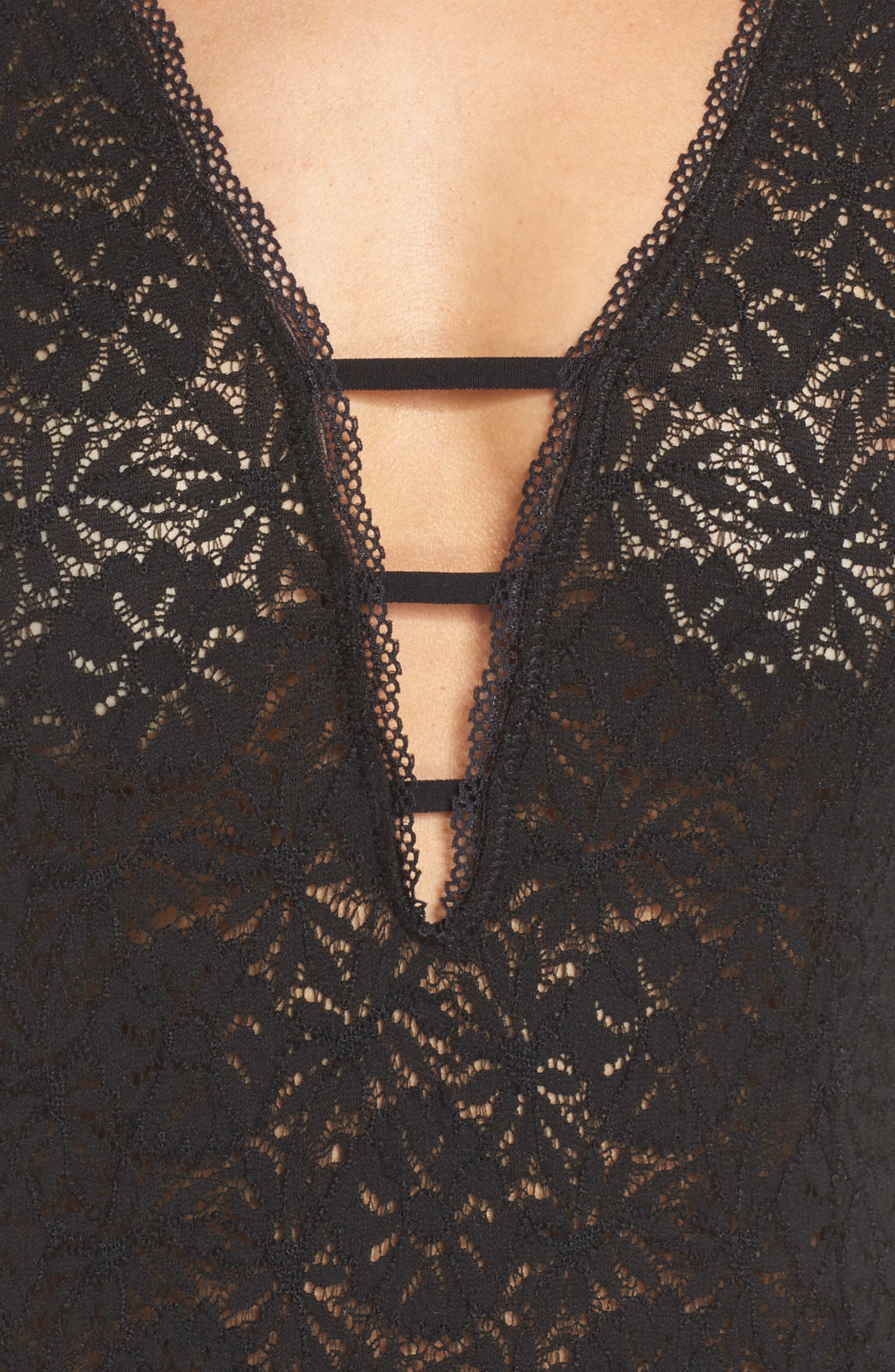 Intimately FP Mason Thong Bodysuit,                             Alternate thumbnail 4, color,                             001