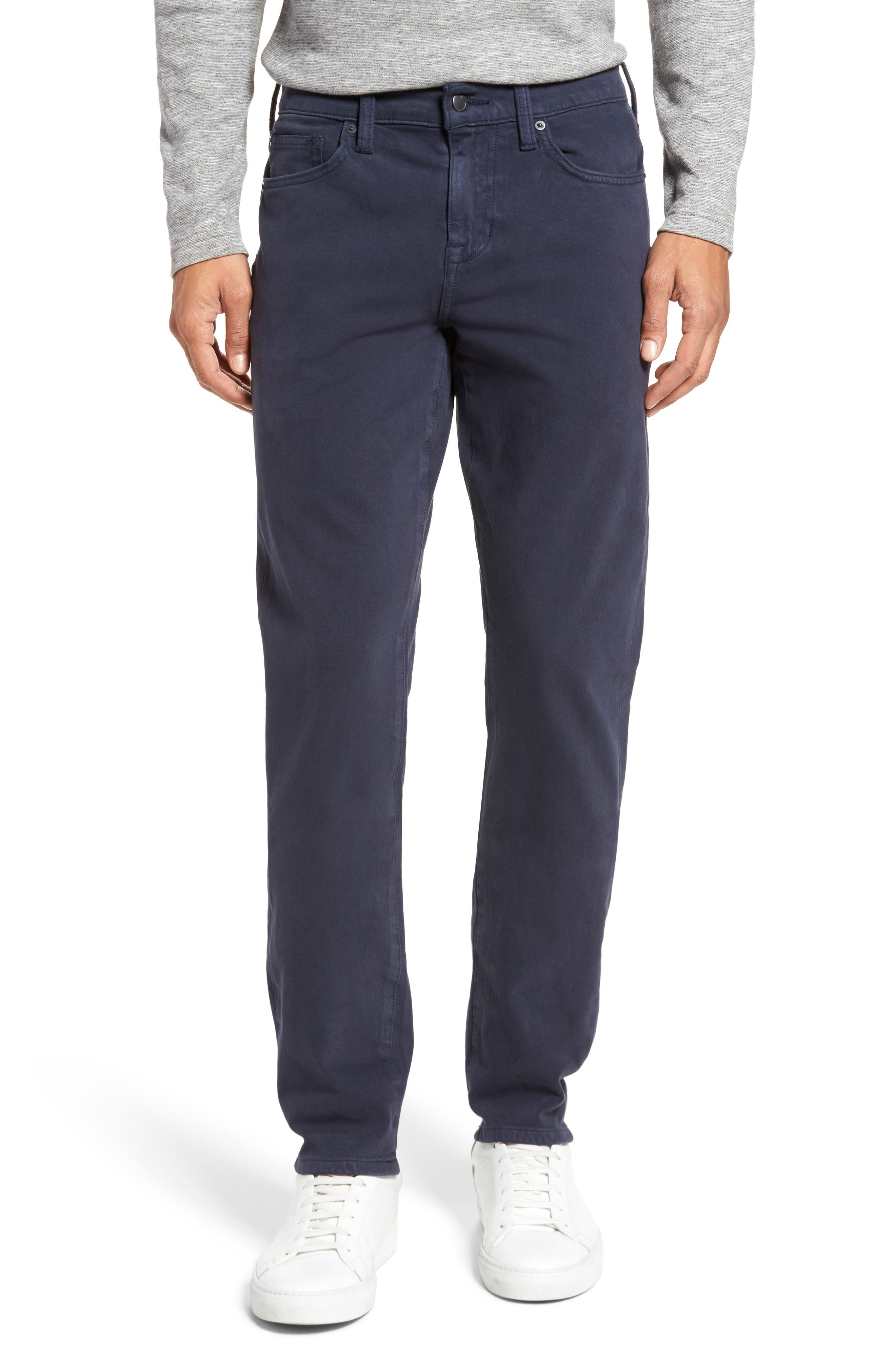 Kinetic Slim Fit Twill Pants,                         Main,                         color, NAVY