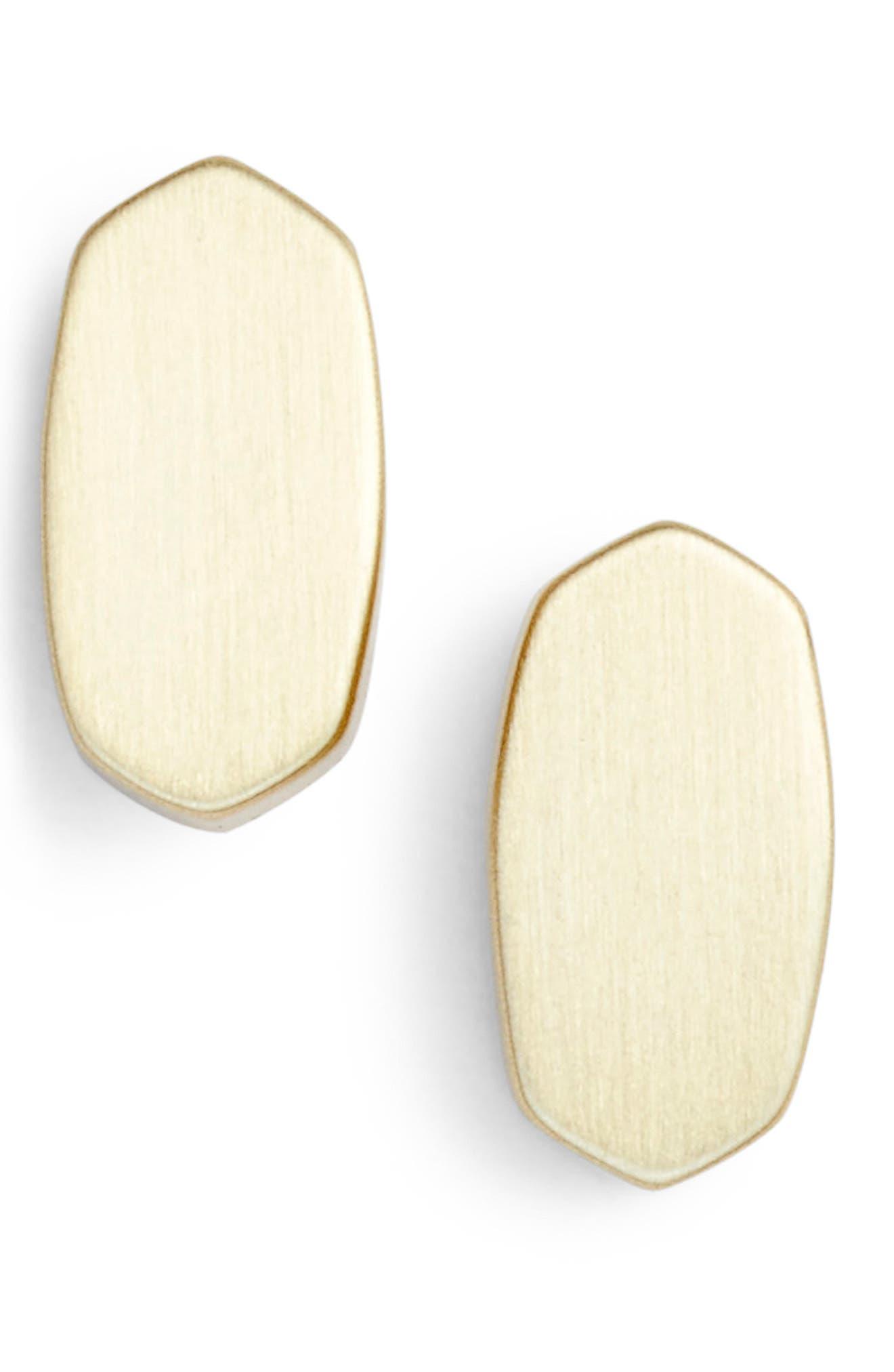 Barrett Stud Earrings in Gold