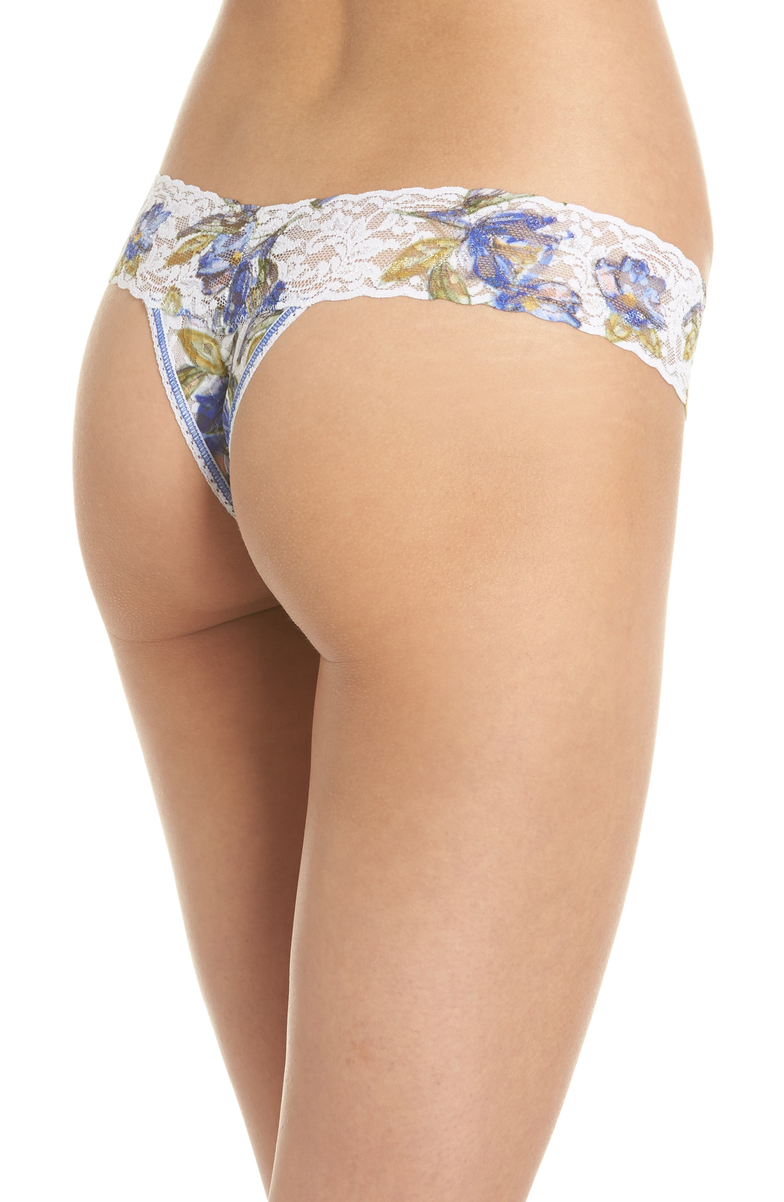 Print Low Rise Thong,                             Alternate thumbnail 23, color,