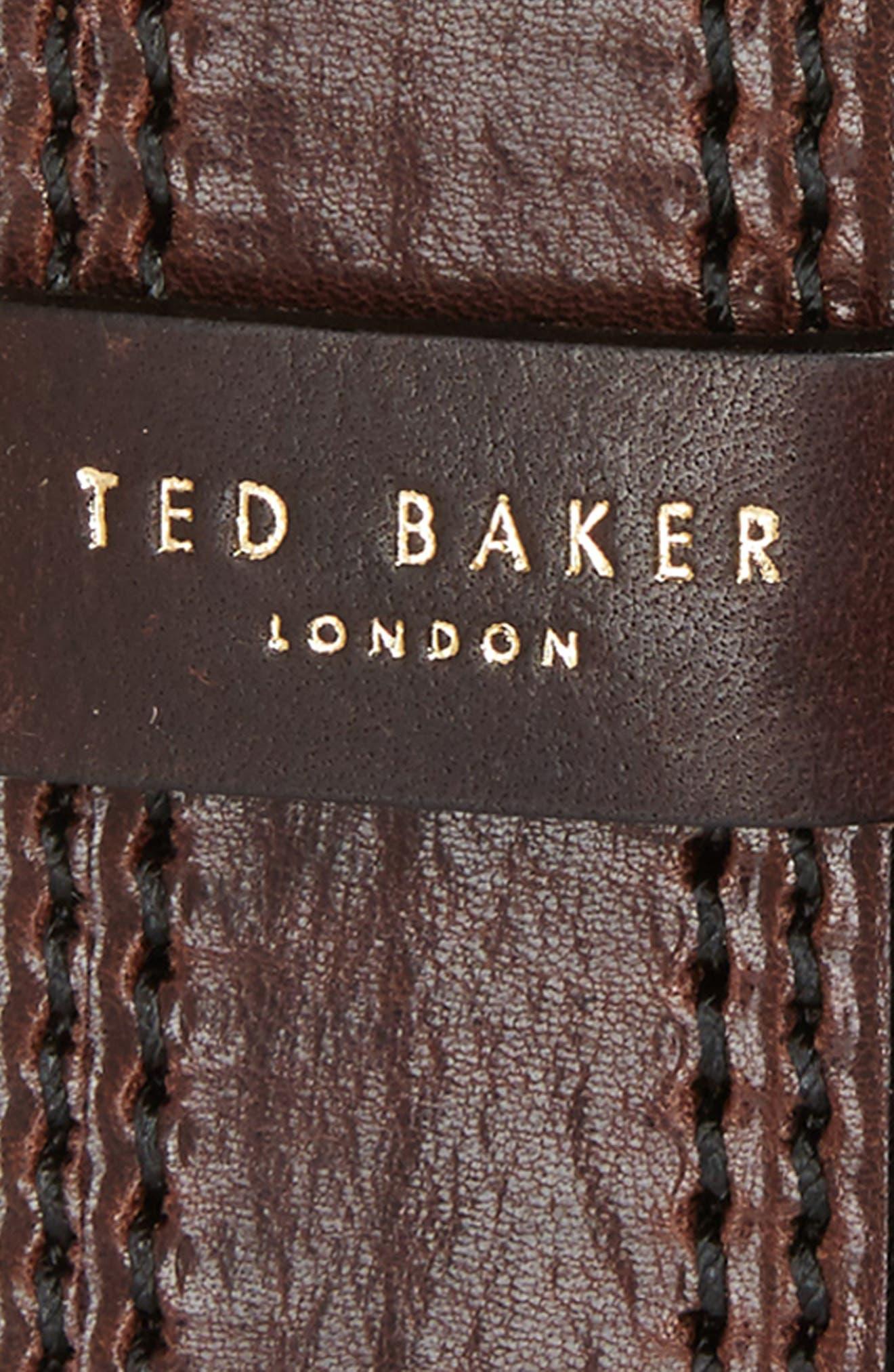 Crikiit Stitched Leather Belt,                             Alternate thumbnail 4, color,