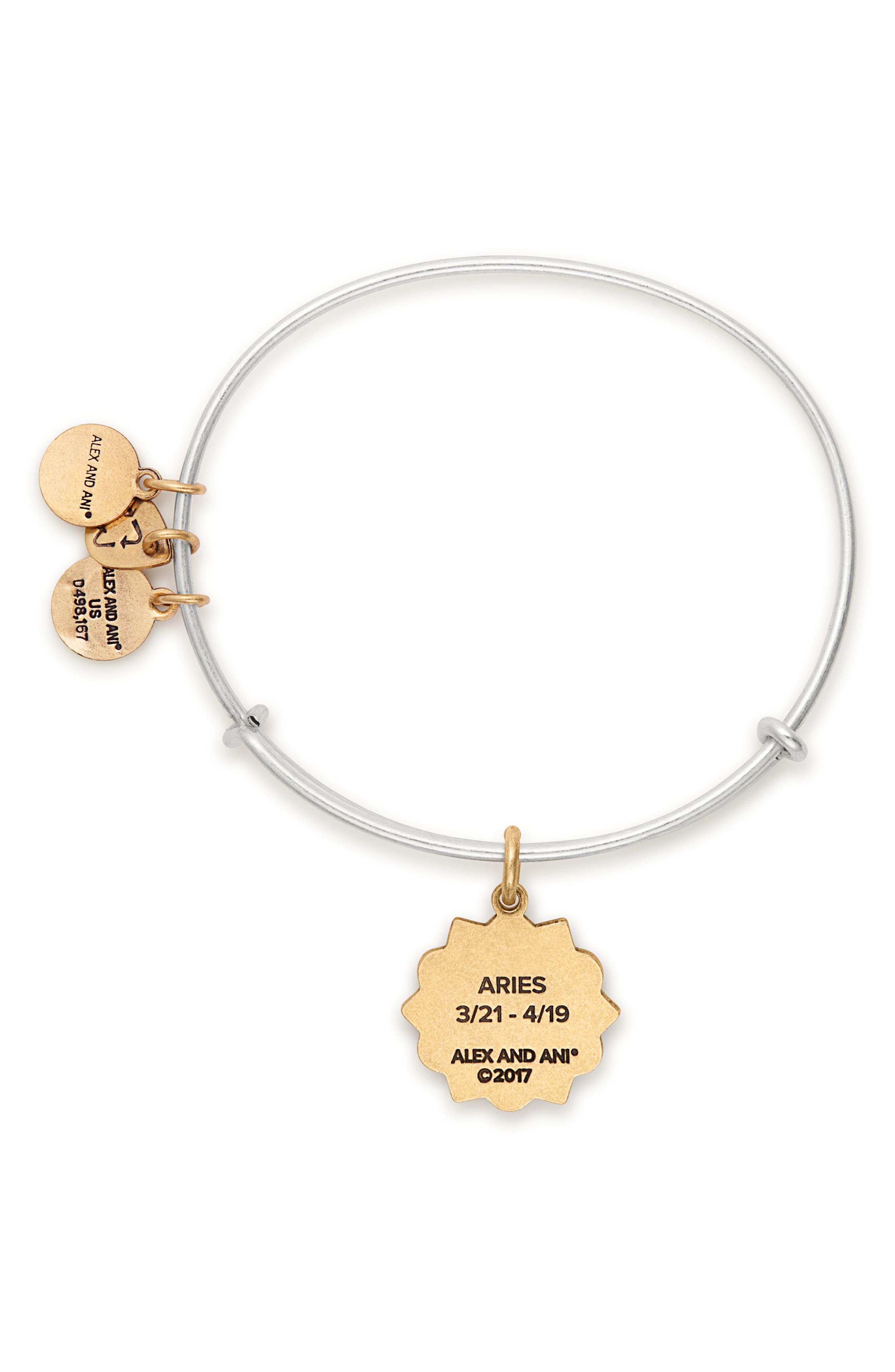 ALEX AND ANI,                             Zodiac Charm Expandable Wire Bangle,                             Alternate thumbnail 2, color,                             040