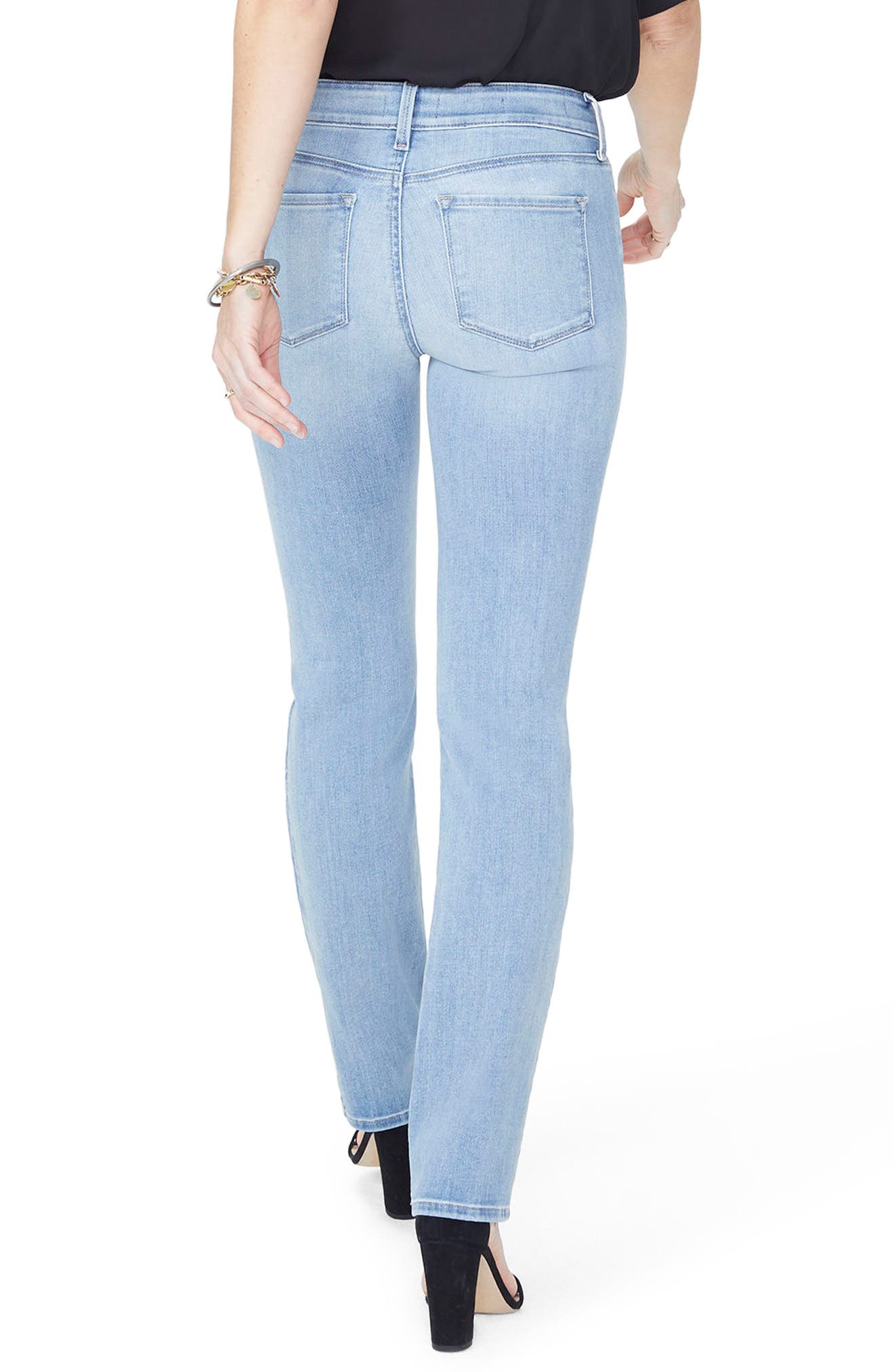 Marilyn High Waist Stretch Straight Leg Jeans,                             Alternate thumbnail 2, color,                             DREAMSTATE