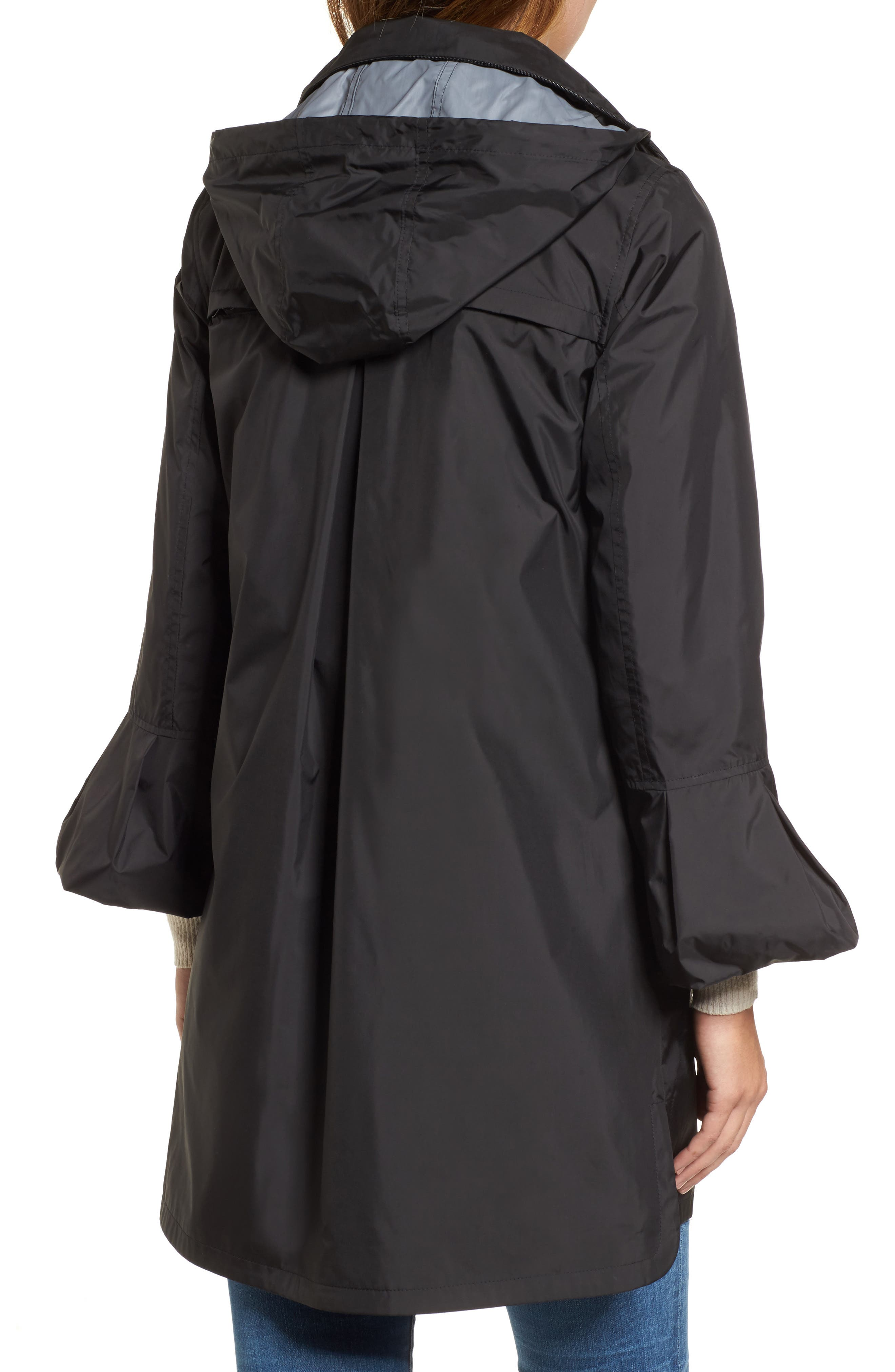Flare Sleeve Packable Swing Jacket,                             Alternate thumbnail 3, color,