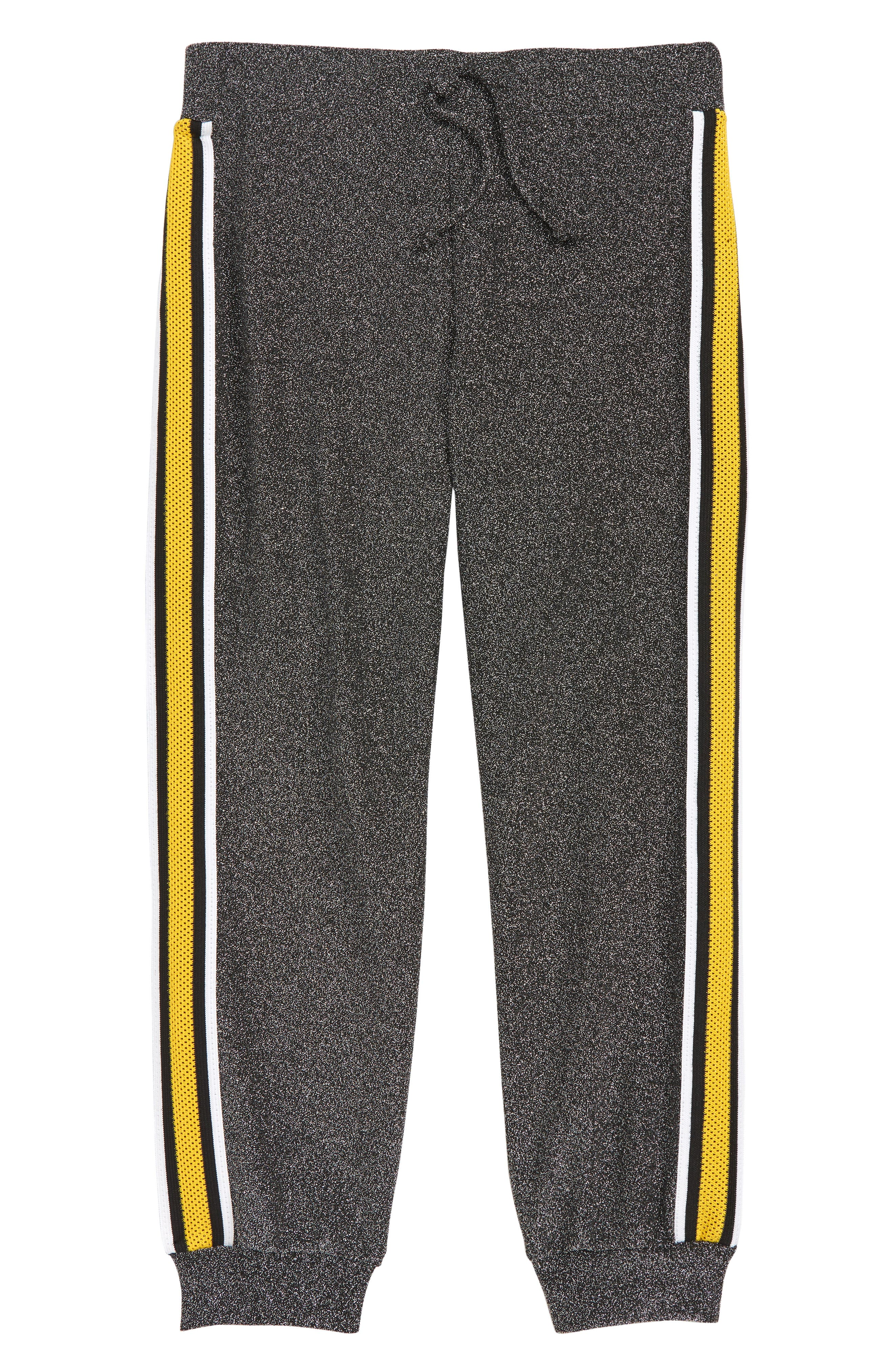 Girls Mia Chica Sparkle Side Tape Jogger Pants