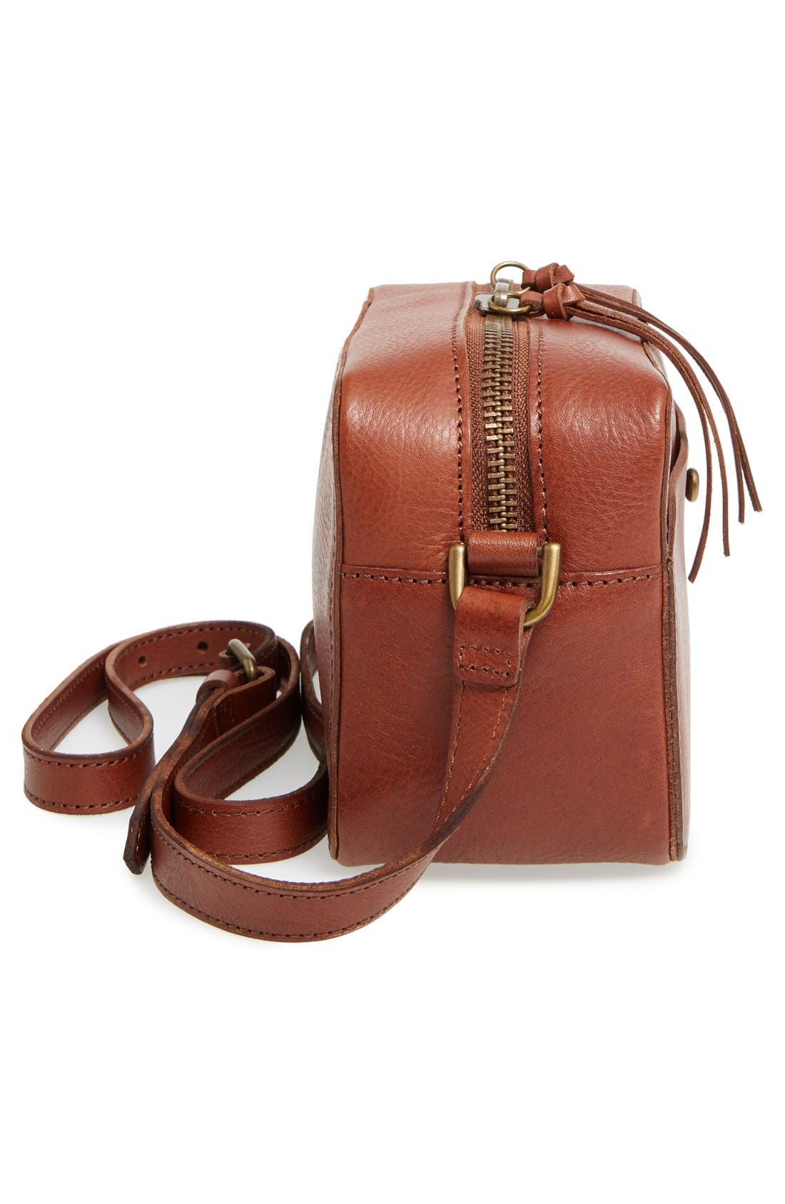 Leather Camera Bag,                             Alternate thumbnail 2, color,                             200
