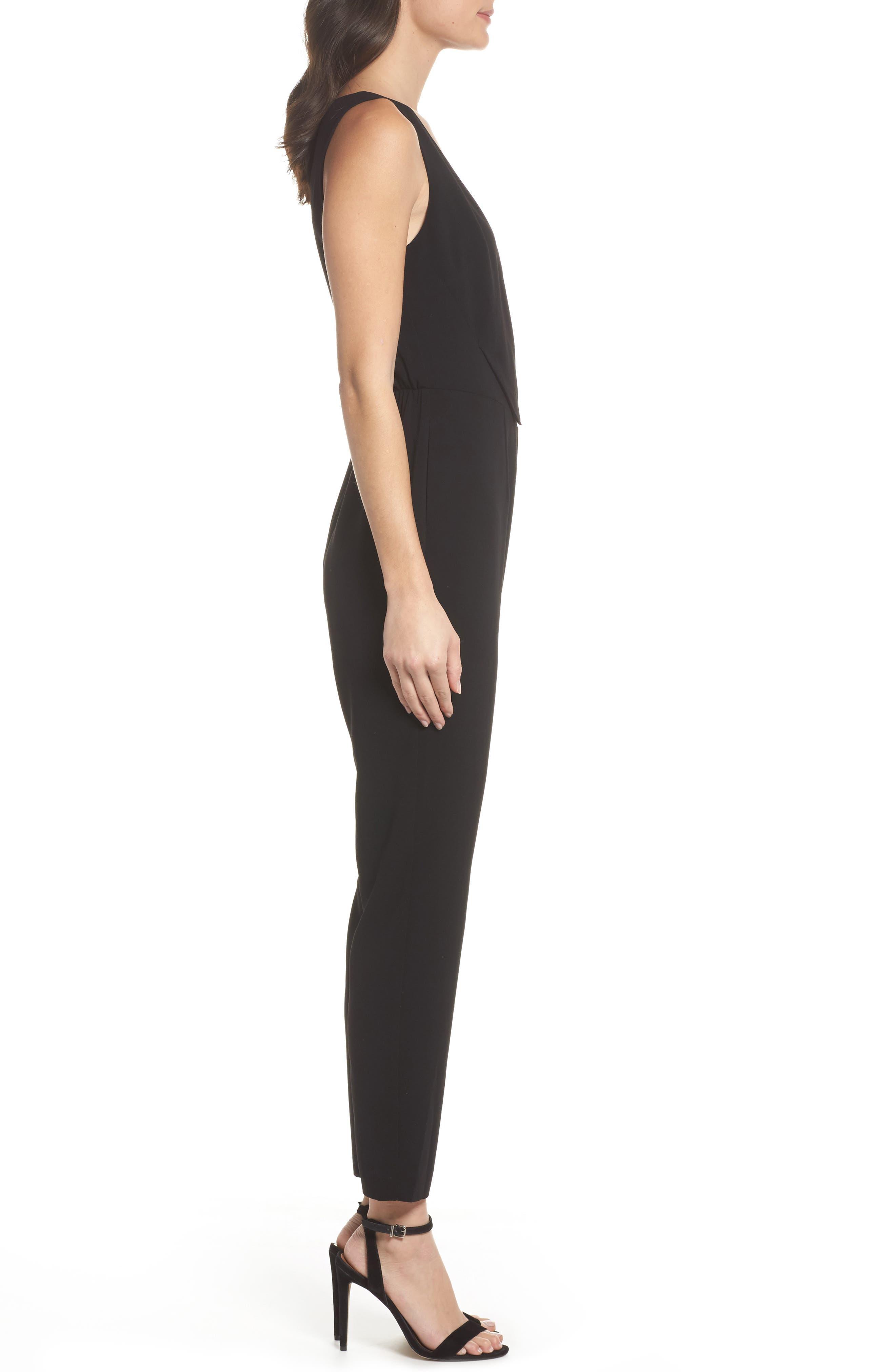 Asymmetrical Pleat Jumpsuit,                             Alternate thumbnail 5, color,