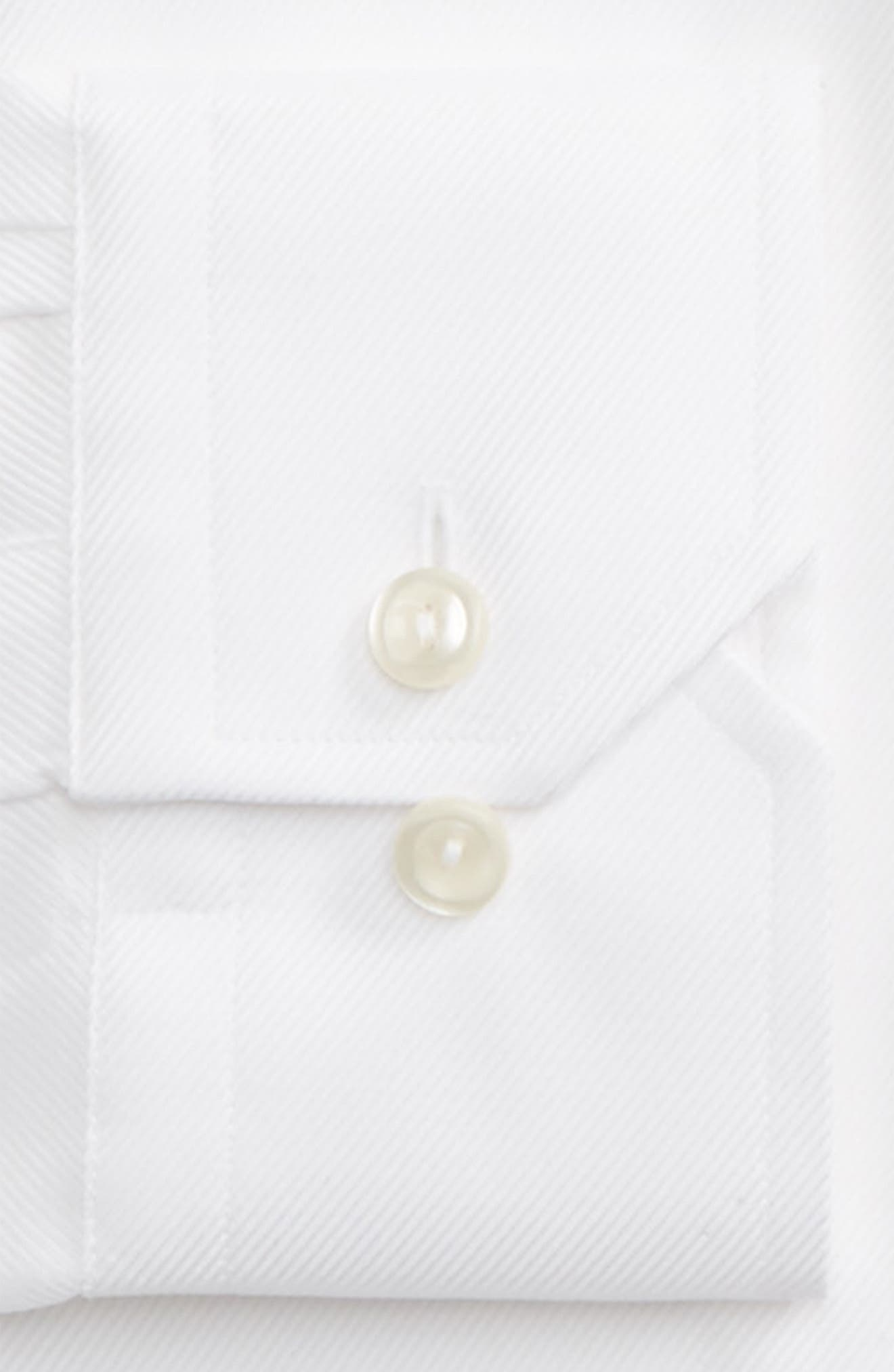 Contemporary Fit Cavalry Twill Dress Shirt,                             Alternate thumbnail 2, color,                             WHITE
