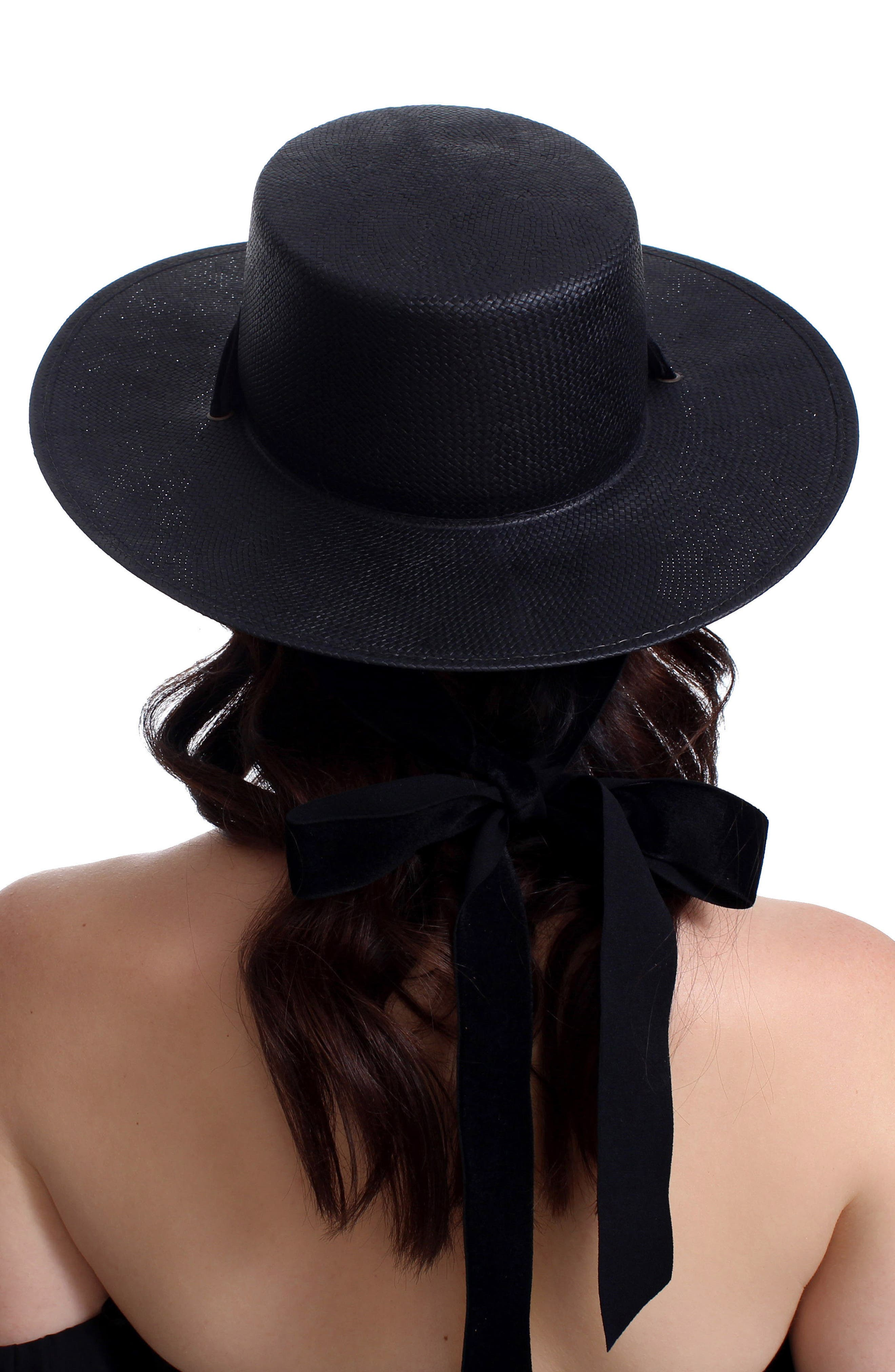 The Heiress Straw Bolero Hat,                             Alternate thumbnail 3, color,                             001