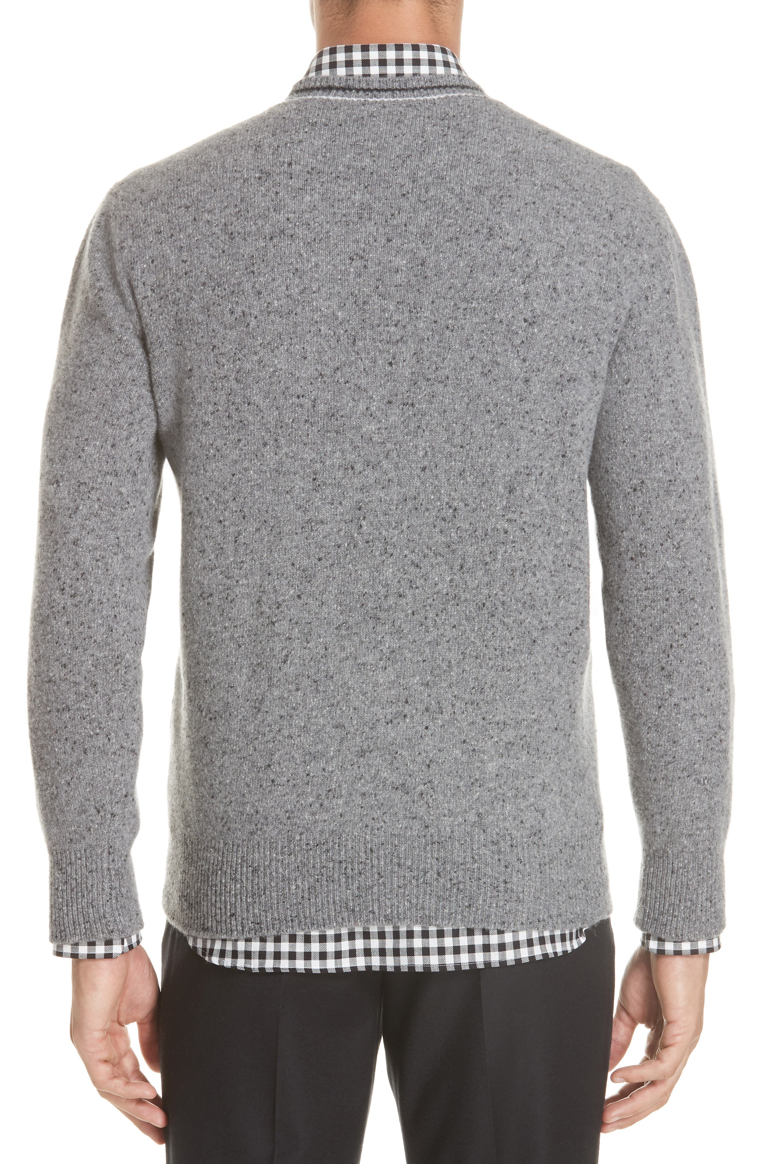 Trim Fit V-Neck Wool & Cashmere Sweater,                             Alternate thumbnail 2, color,                             GREY