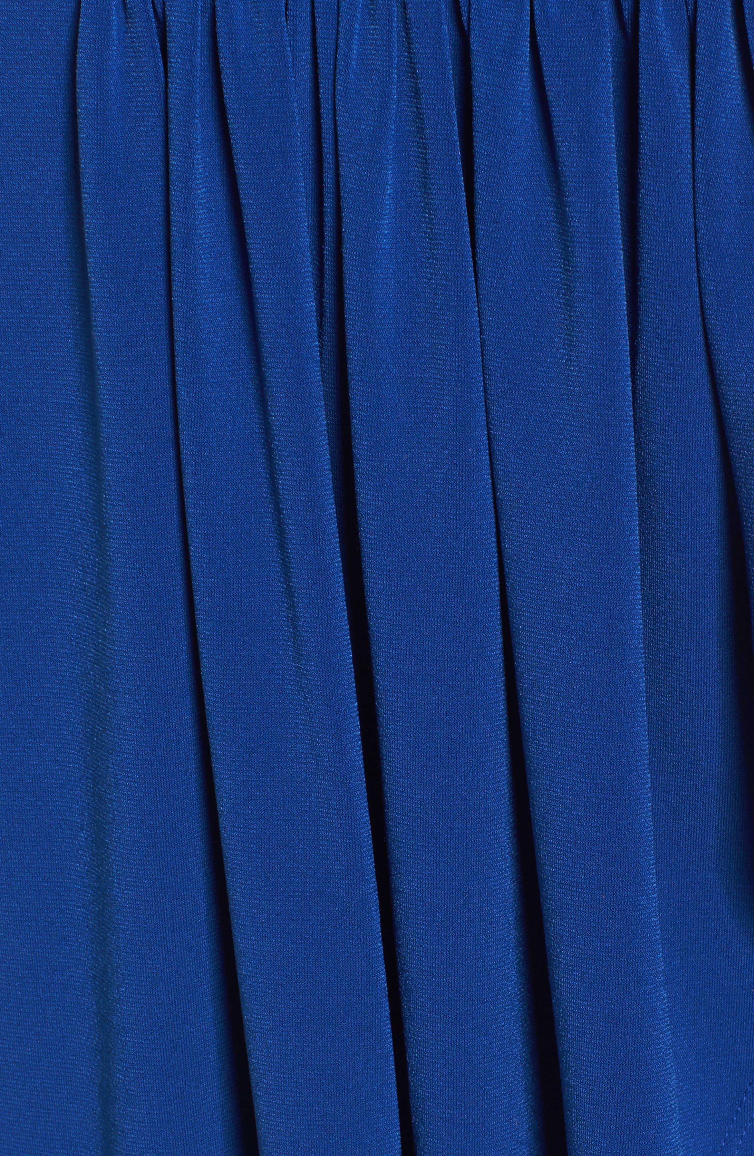 Elenna Stretch Jersey Sundress,                             Alternate thumbnail 5, color,                             DARK BLUE