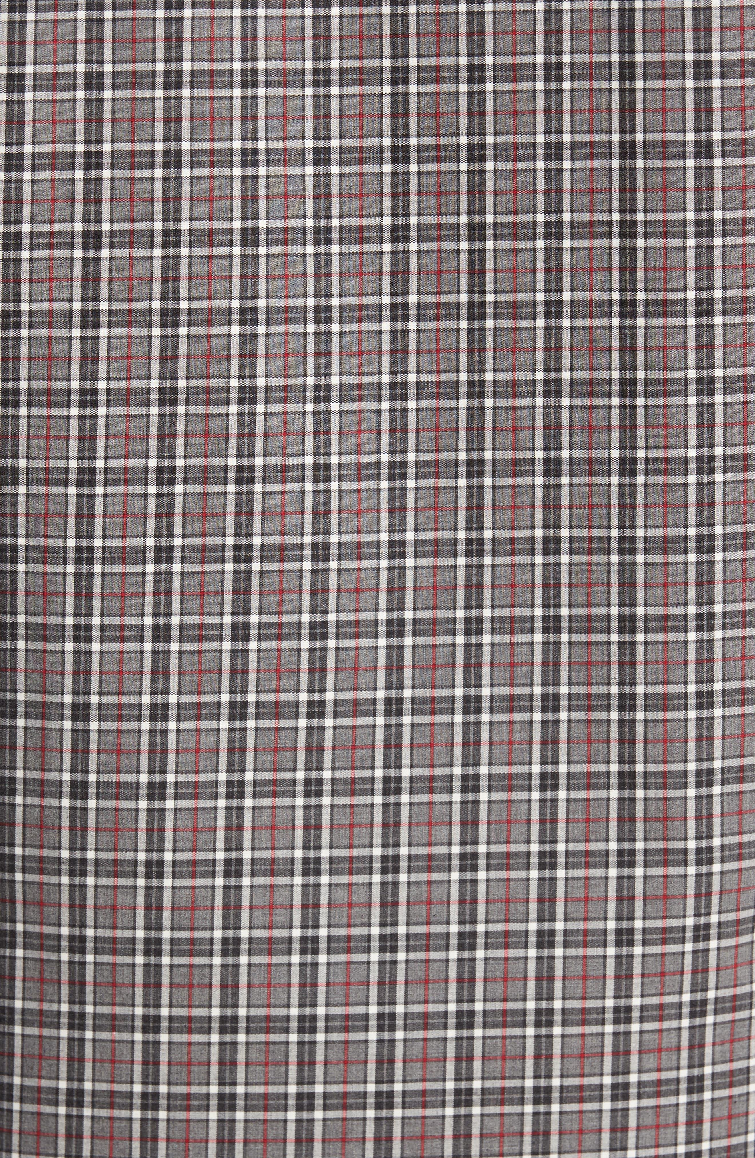 Smartcare<sup>™</sup> Regular Fit Plaid Sport Shirt,                             Alternate thumbnail 5, color,                             030