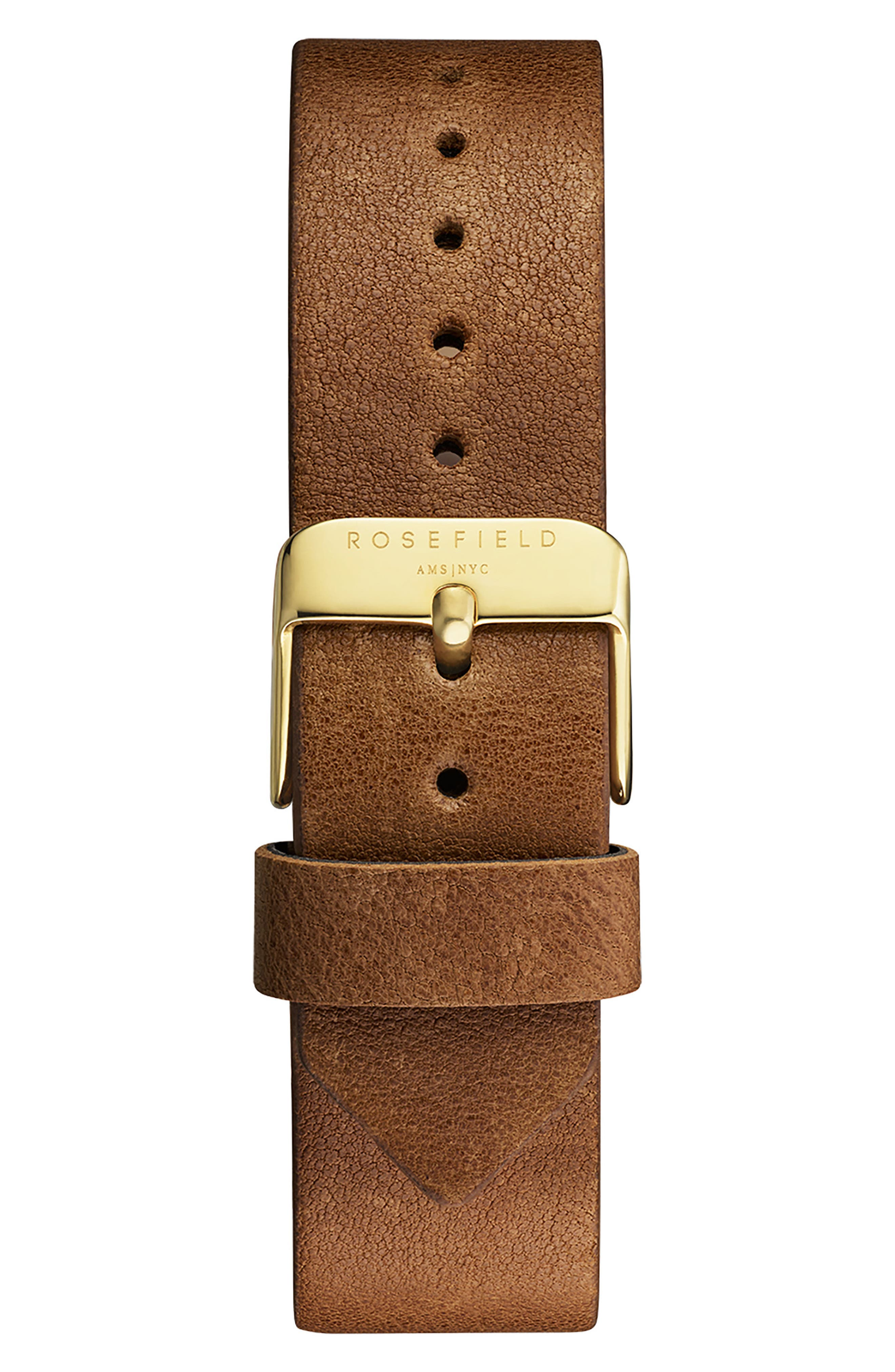 Gramercy Leather Strap Watch, 38mm,                             Alternate thumbnail 2, color,                             BROWN/ WHITE/ GOLD
