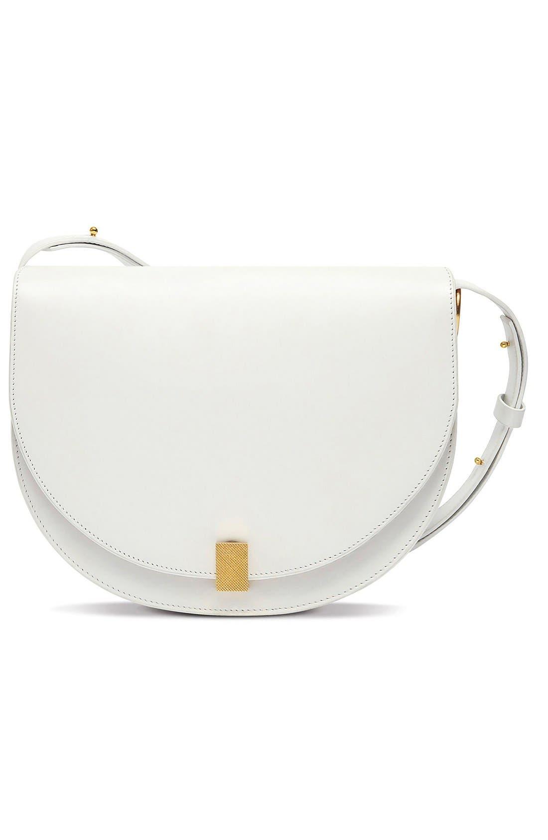Half Moon Box Shoulder Bag,                             Main thumbnail 1, color,                             WHITE