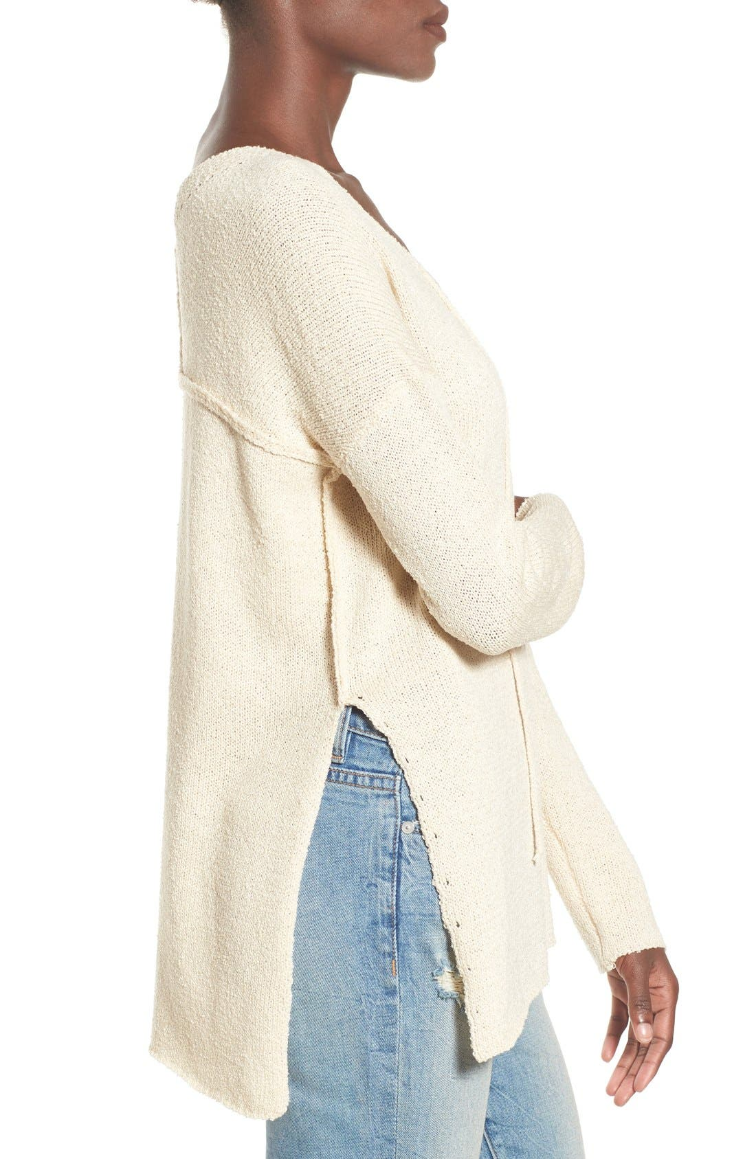 ASTR Lace-Up Sweater,                             Alternate thumbnail 12, color,