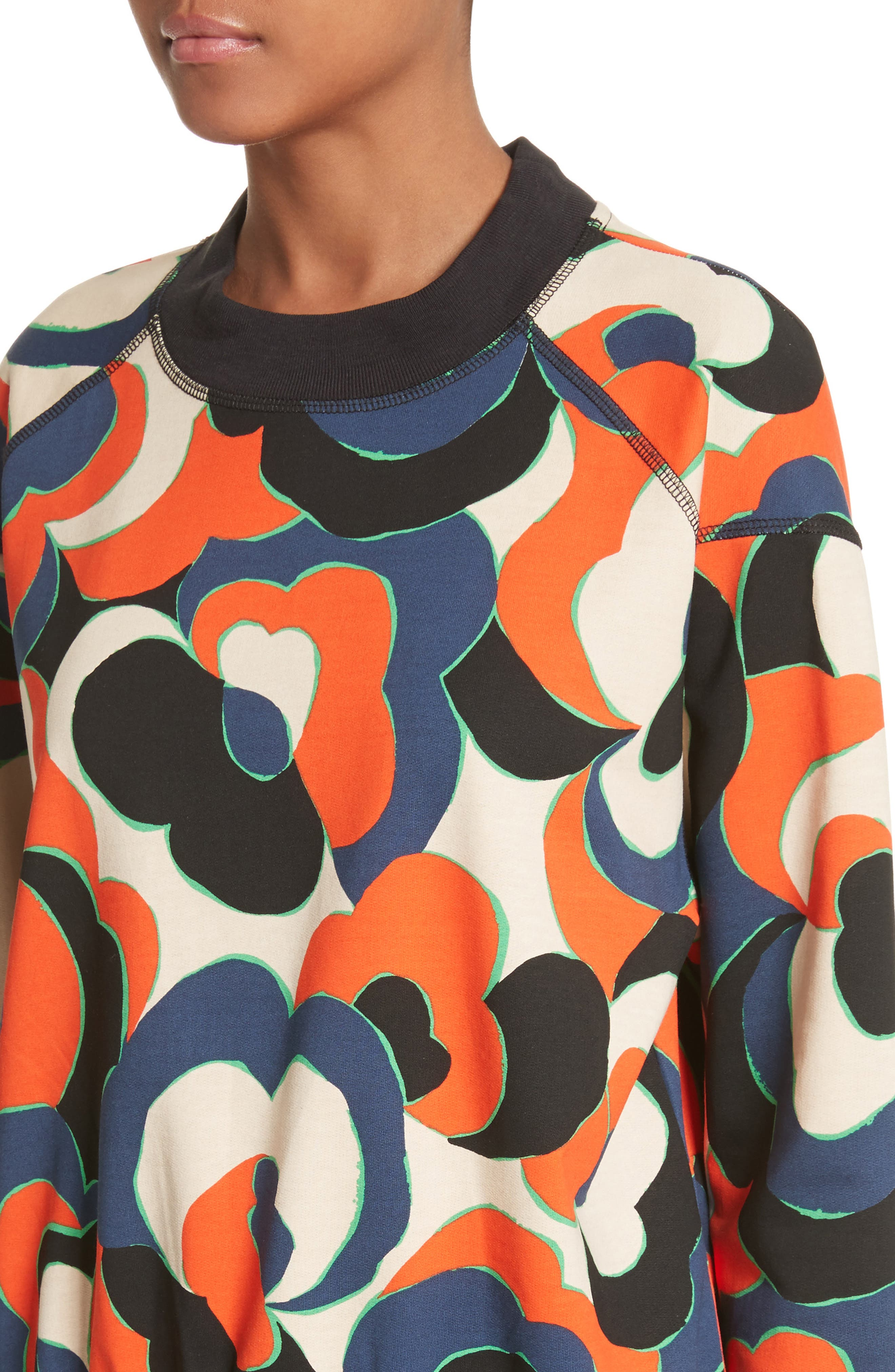 Hardmon Print Sweatshirt,                             Alternate thumbnail 4, color,                             600