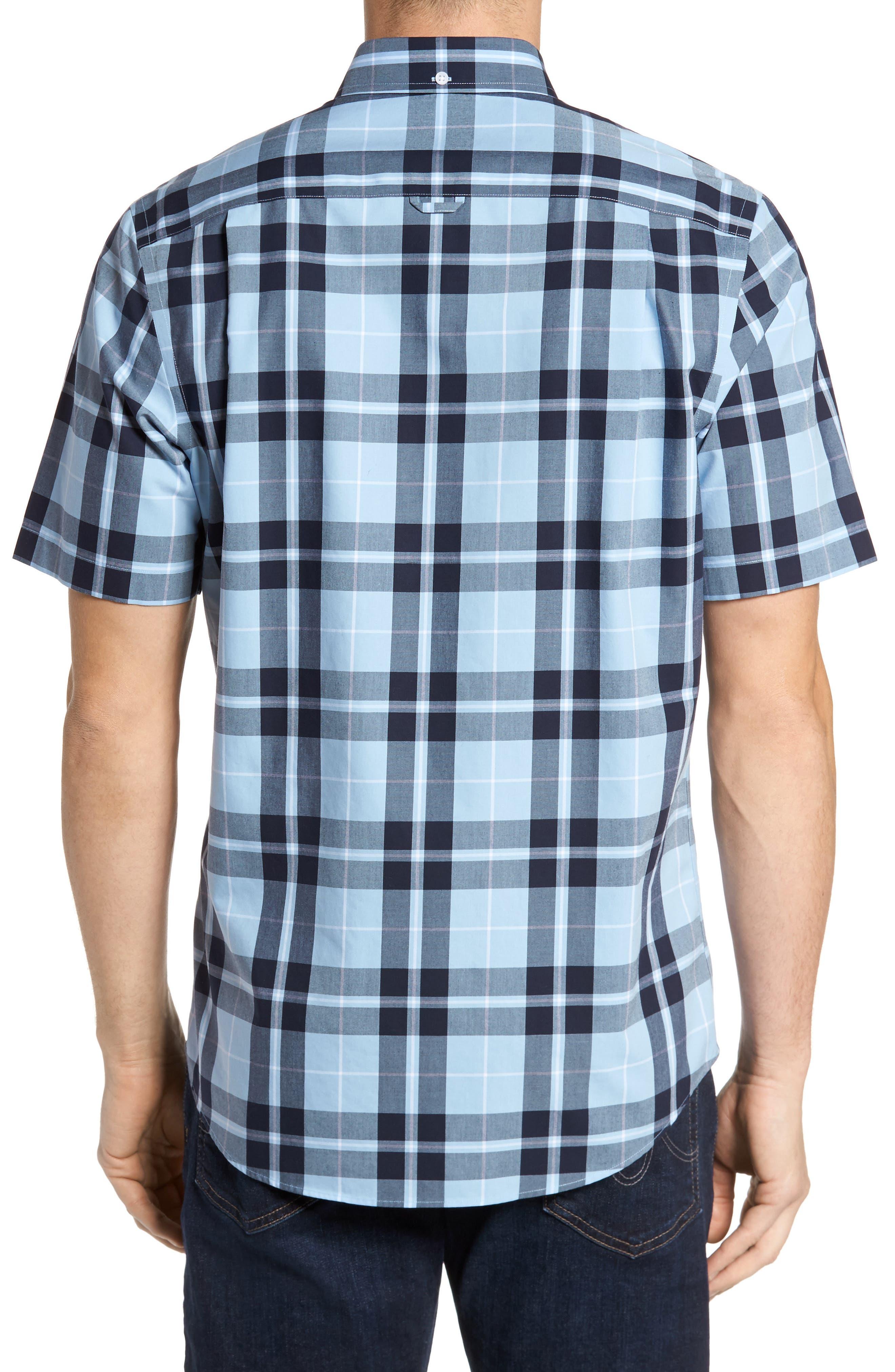 Smartcare<sup>™</sup> Regular Fit Plaid Sport Shirt,                             Alternate thumbnail 6, color,