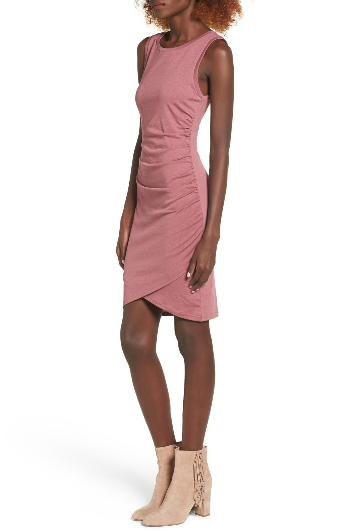 Ruched Body-Con Tank Dress,                             Alternate thumbnail 204, color,