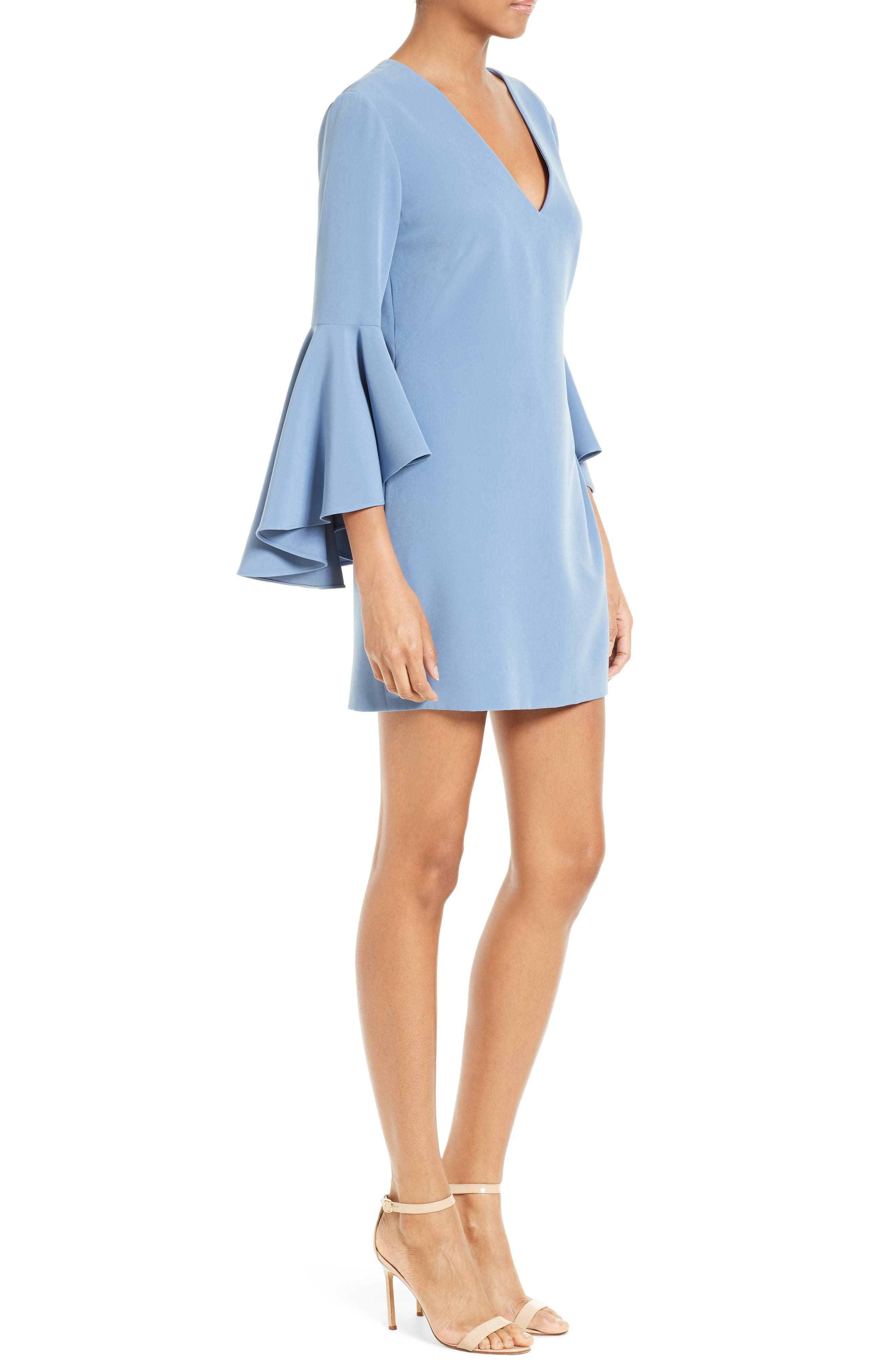 Nicole Bell Sleeve Dress,                             Alternate thumbnail 37, color,