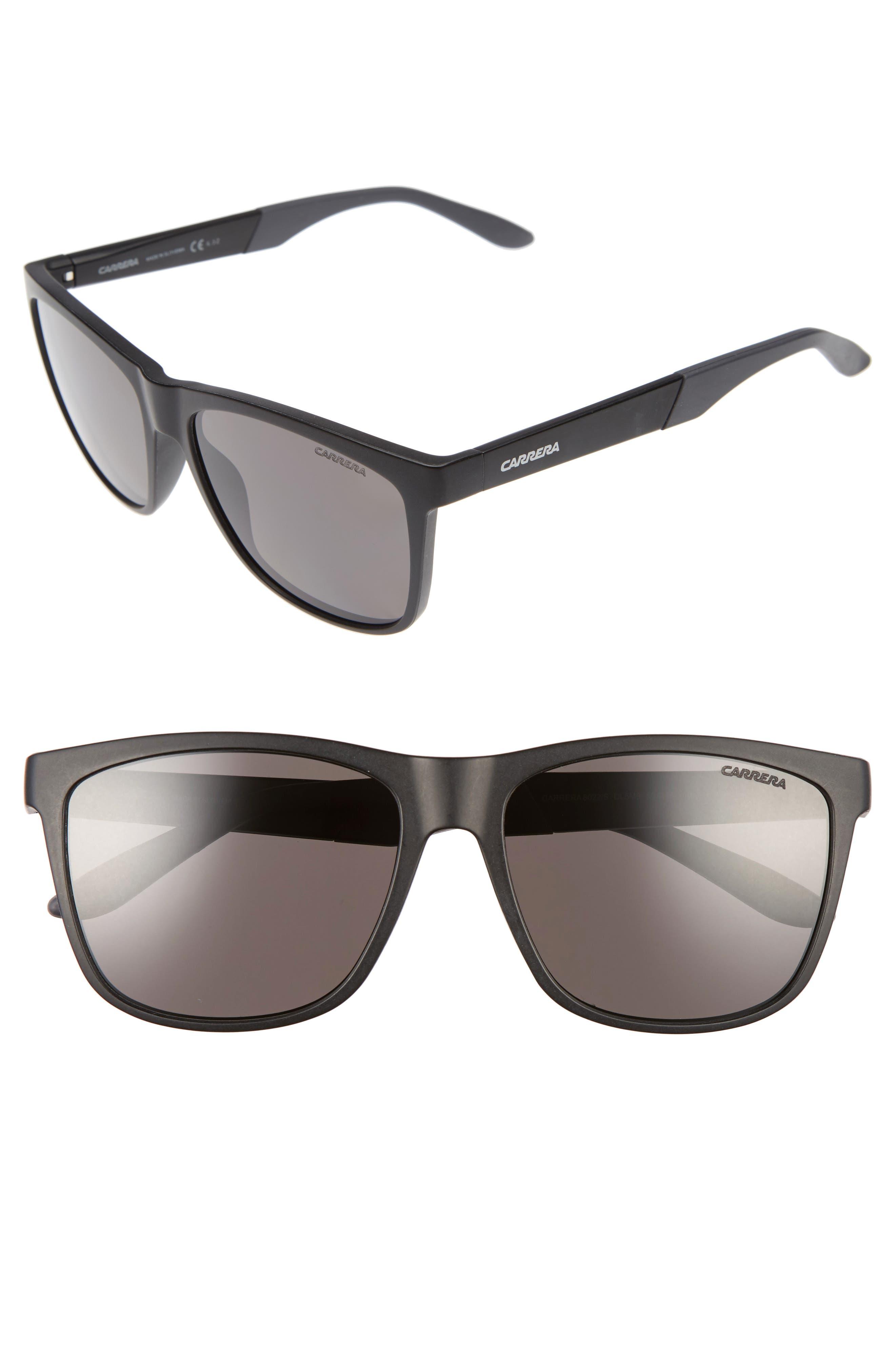 8022/S 56mm Polarized Sunglasses,                         Main,                         color, MATTE BLACK