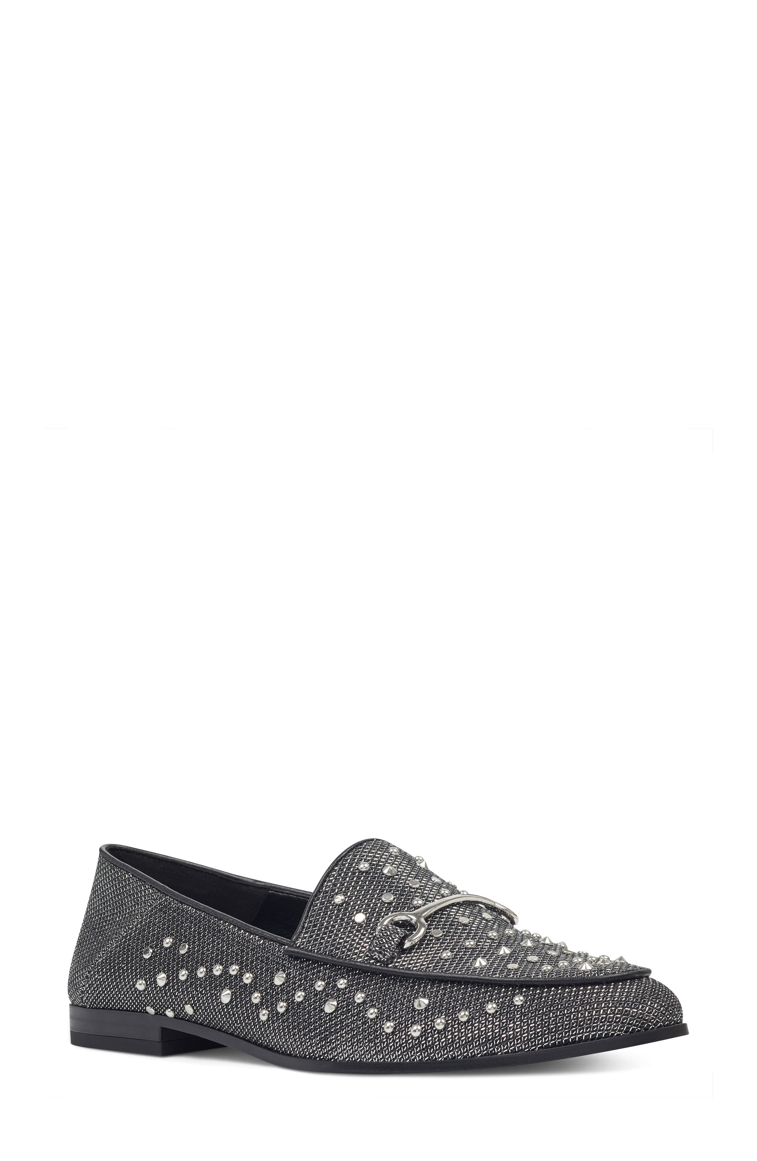 Westoy Studded Loafer,                             Main thumbnail 1, color,                             001