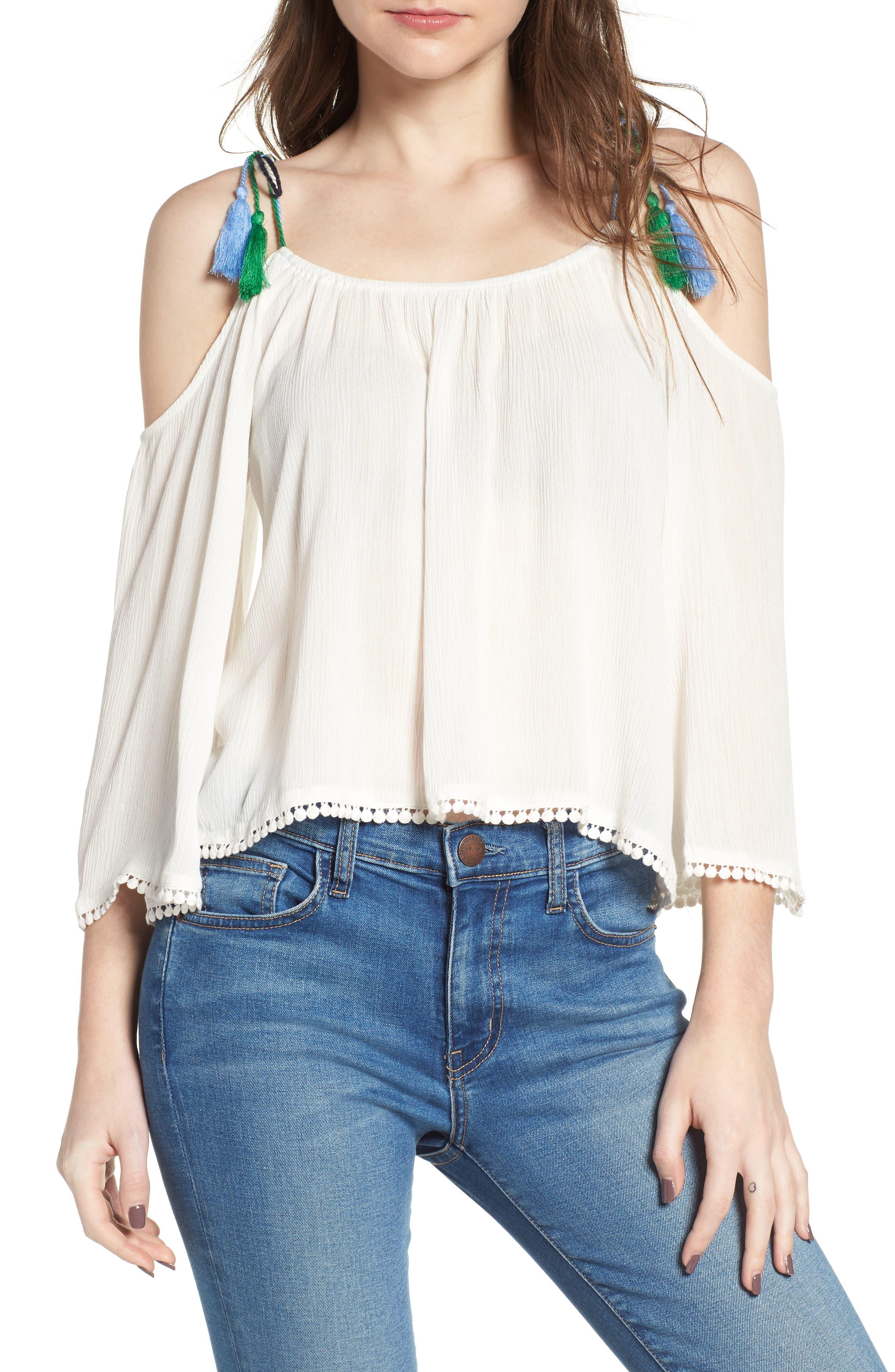 Bettie Cold Shoulder Blouse,                         Main,                         color, 900