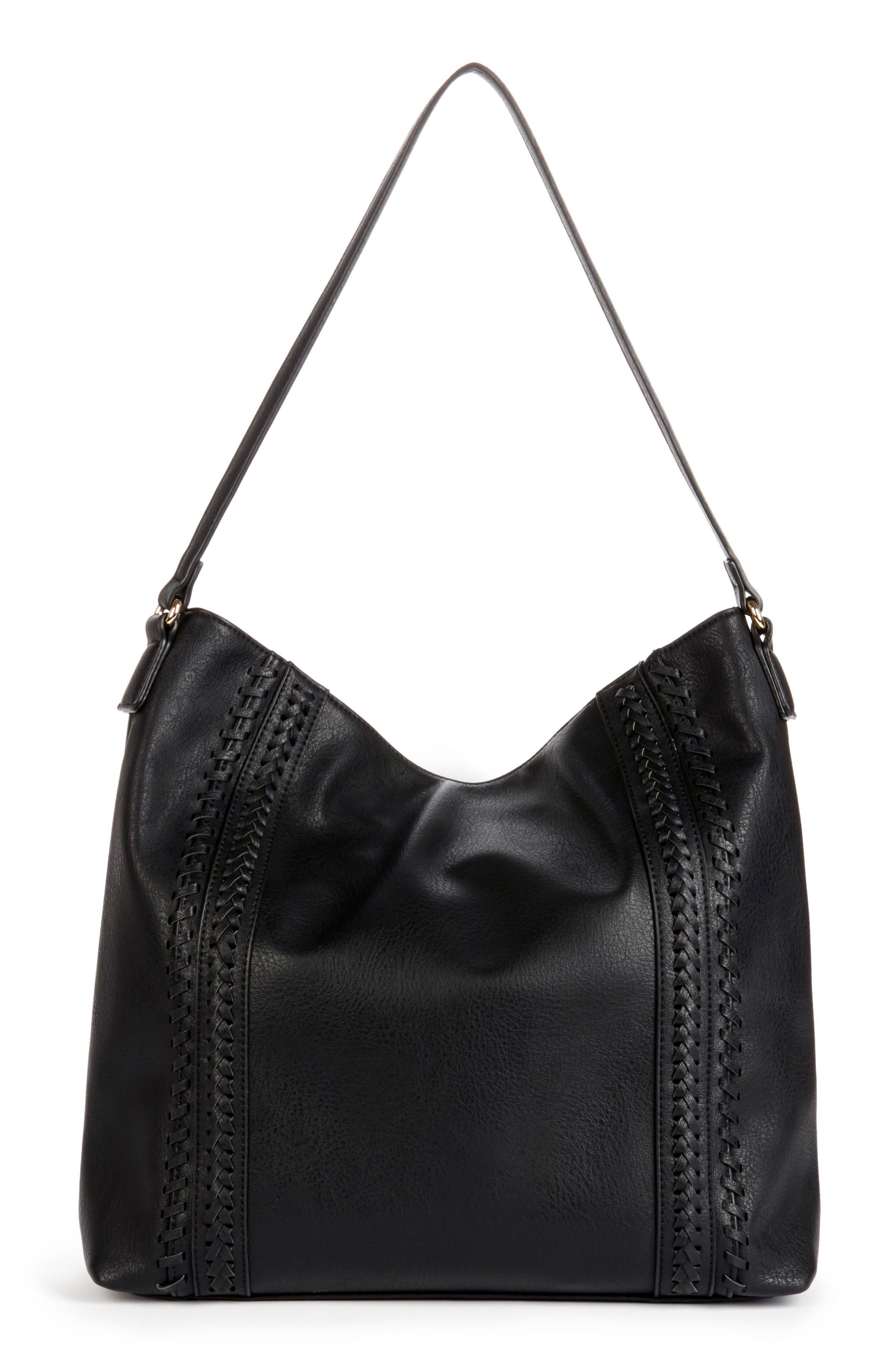 Destin Faux Leather Hobo Bag,                             Main thumbnail 1, color,                             001